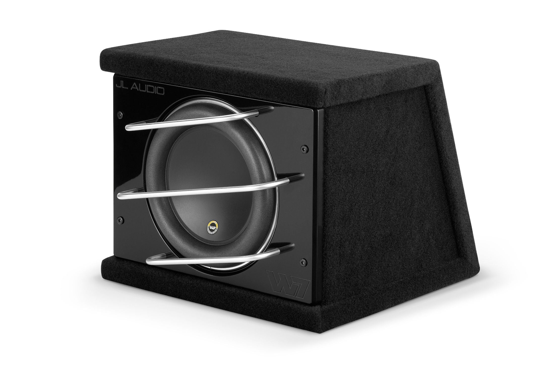 Front of CLS110RG-W7AE Enclosed Subwoofer Facing Left