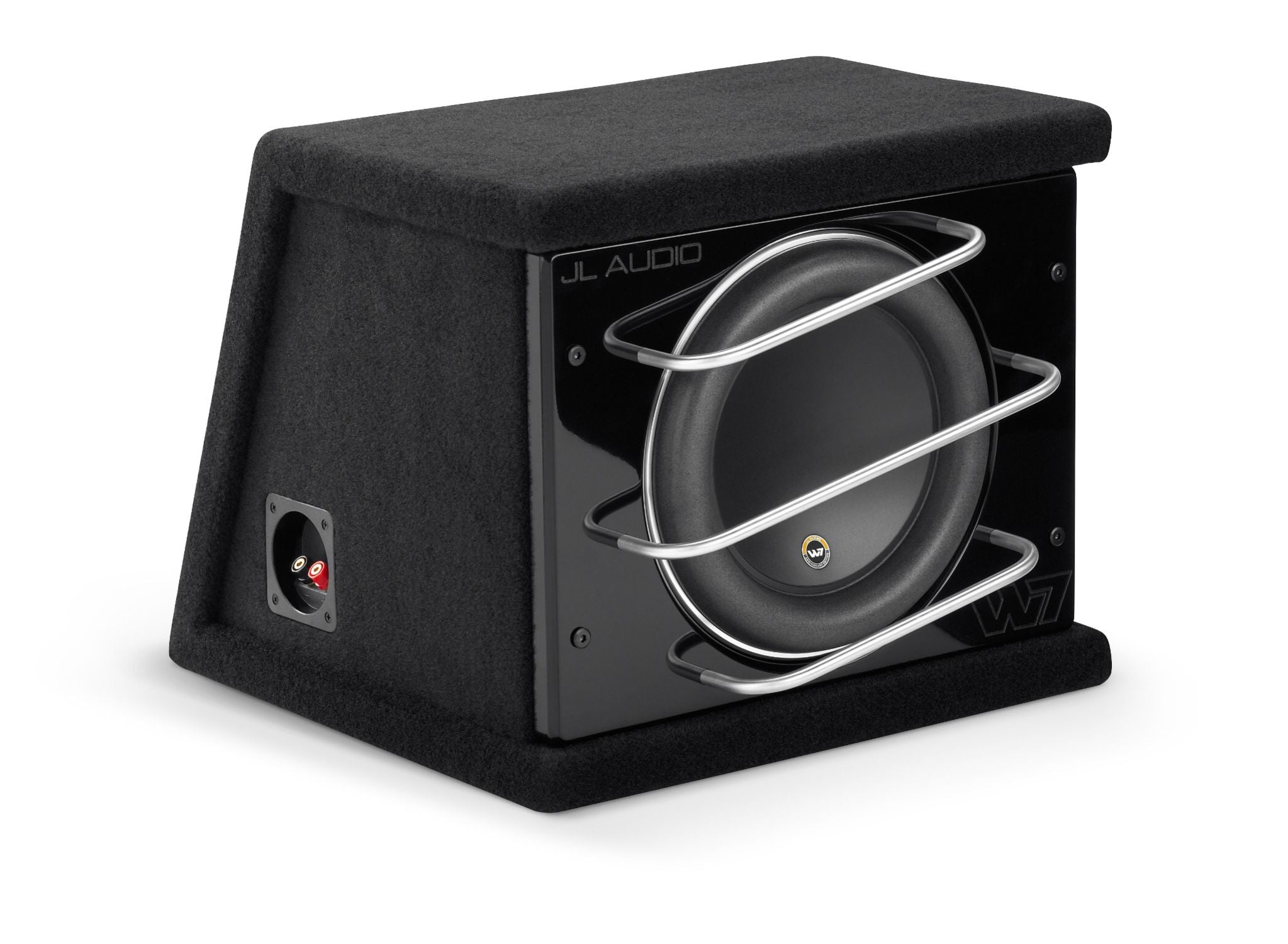 Front of CLS110RG-W7AE Enclosed Subwoofer Facing Right