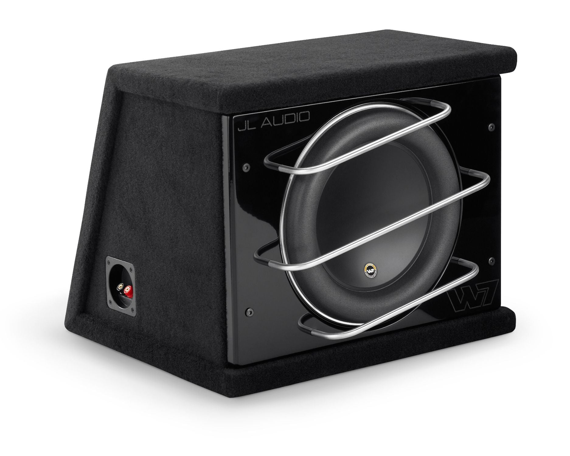 Front of CLS112RG-W7AE Enclosed Subwoofer Facing Right