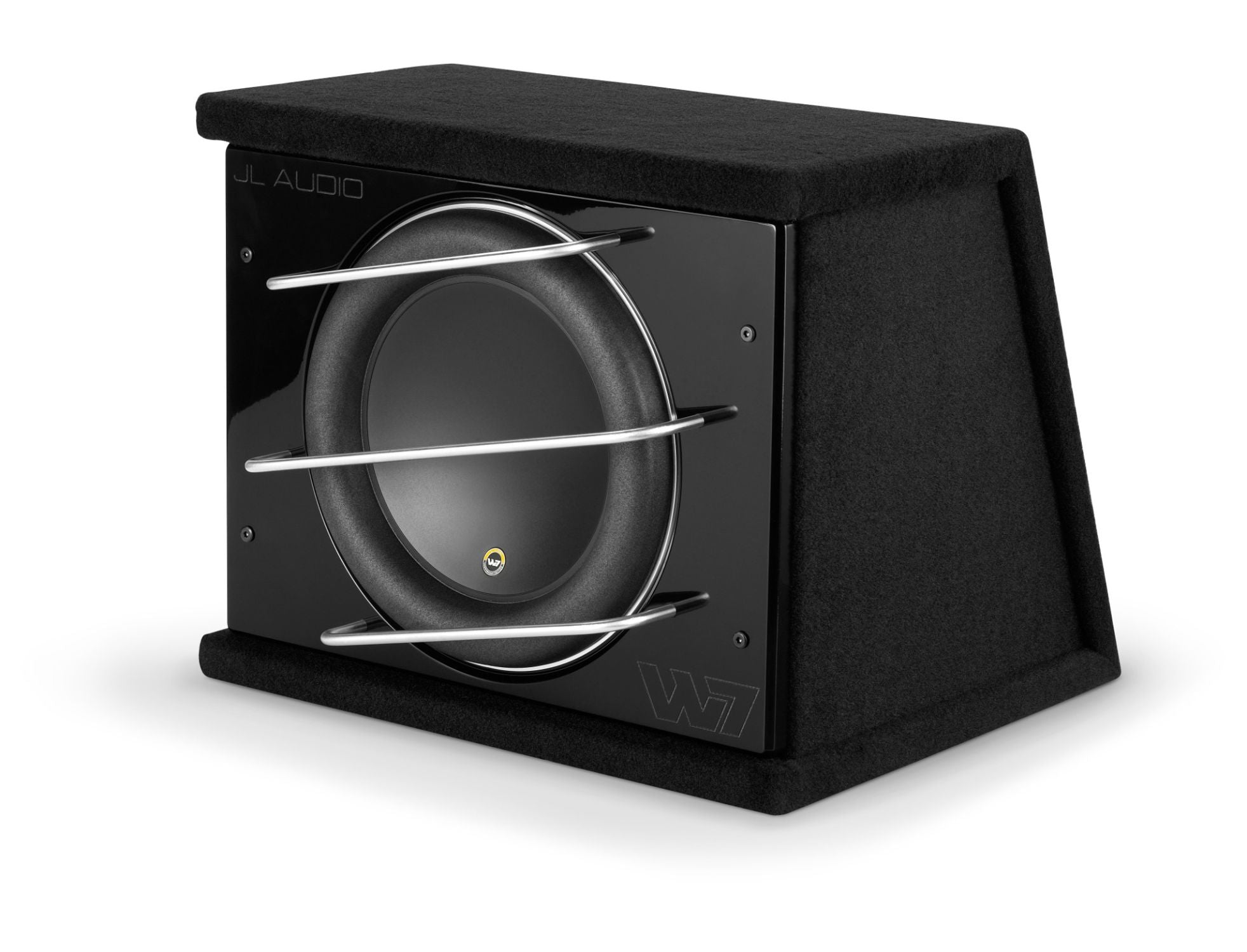 Front of CLS113RG-W7AE Enclosed Subwoofer Facing Left