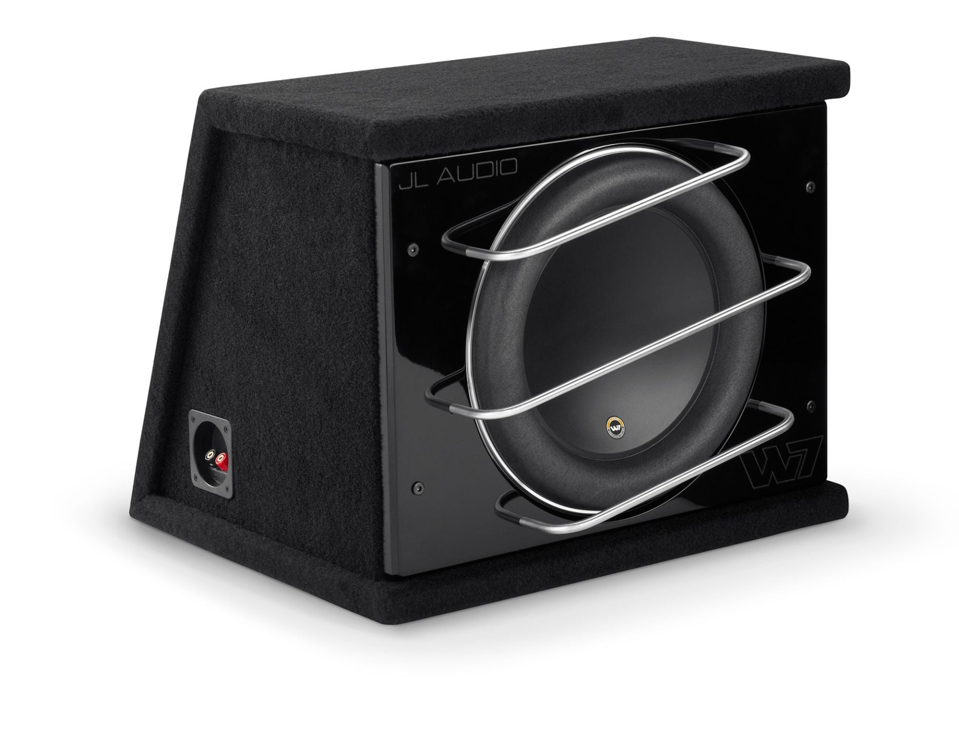 Front of CLS113RG-W7AE Enclosed Subwoofer Facing Right