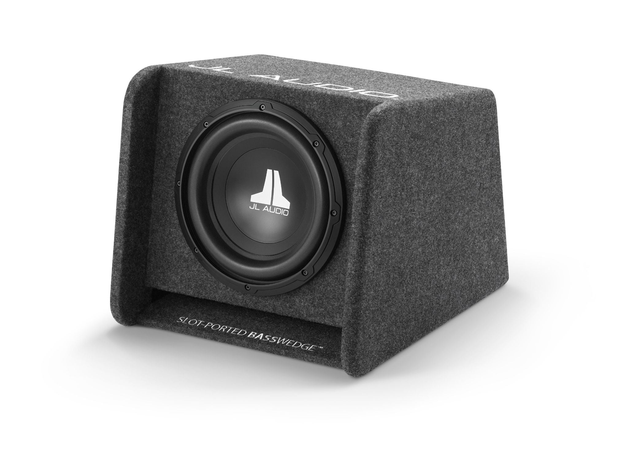 Front of CP110-W0v3 Enclosed Subwoofer Facing Left