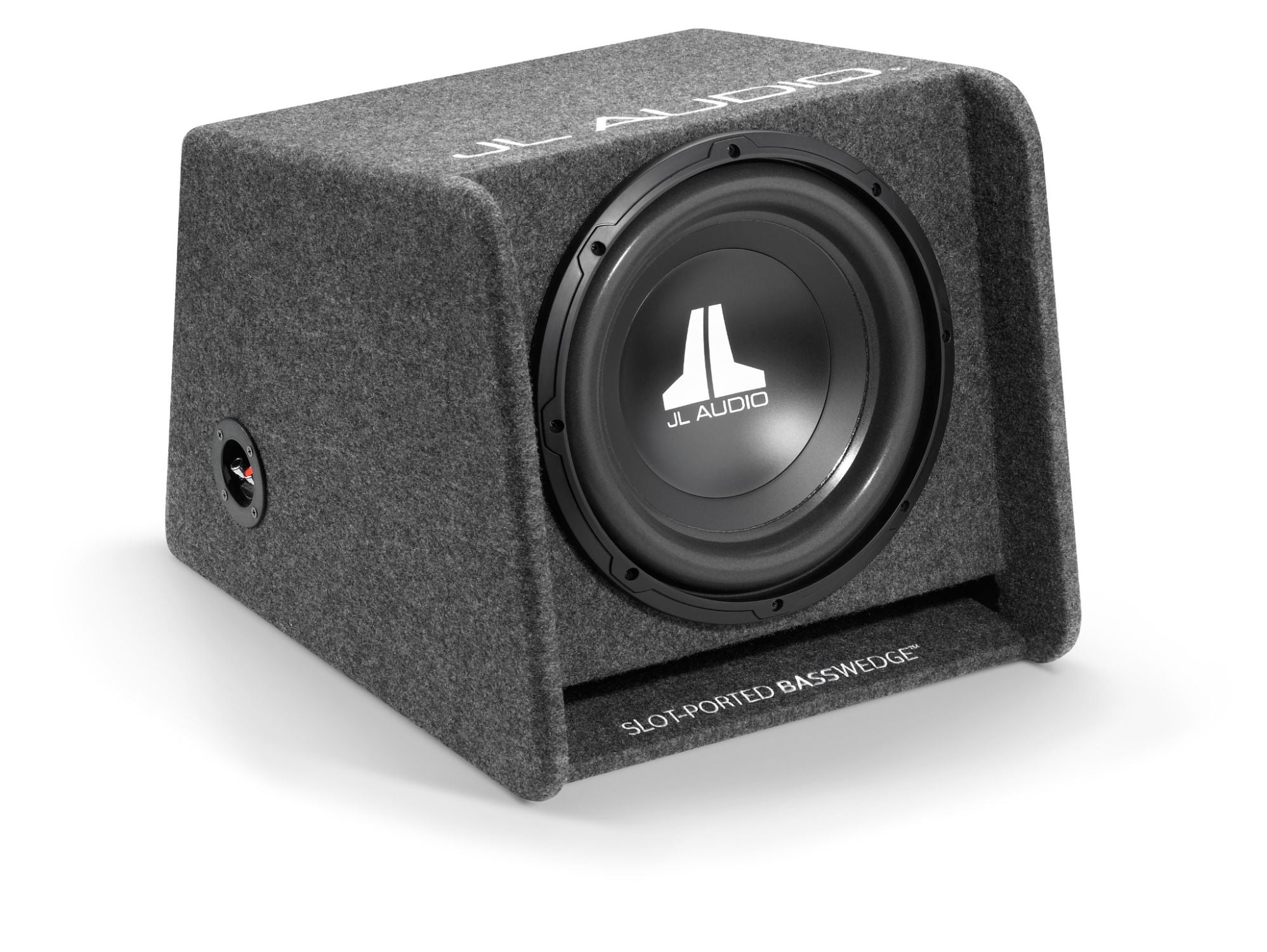 Front of CP112-W0v3 Enclosed Subwoofer Facing Right