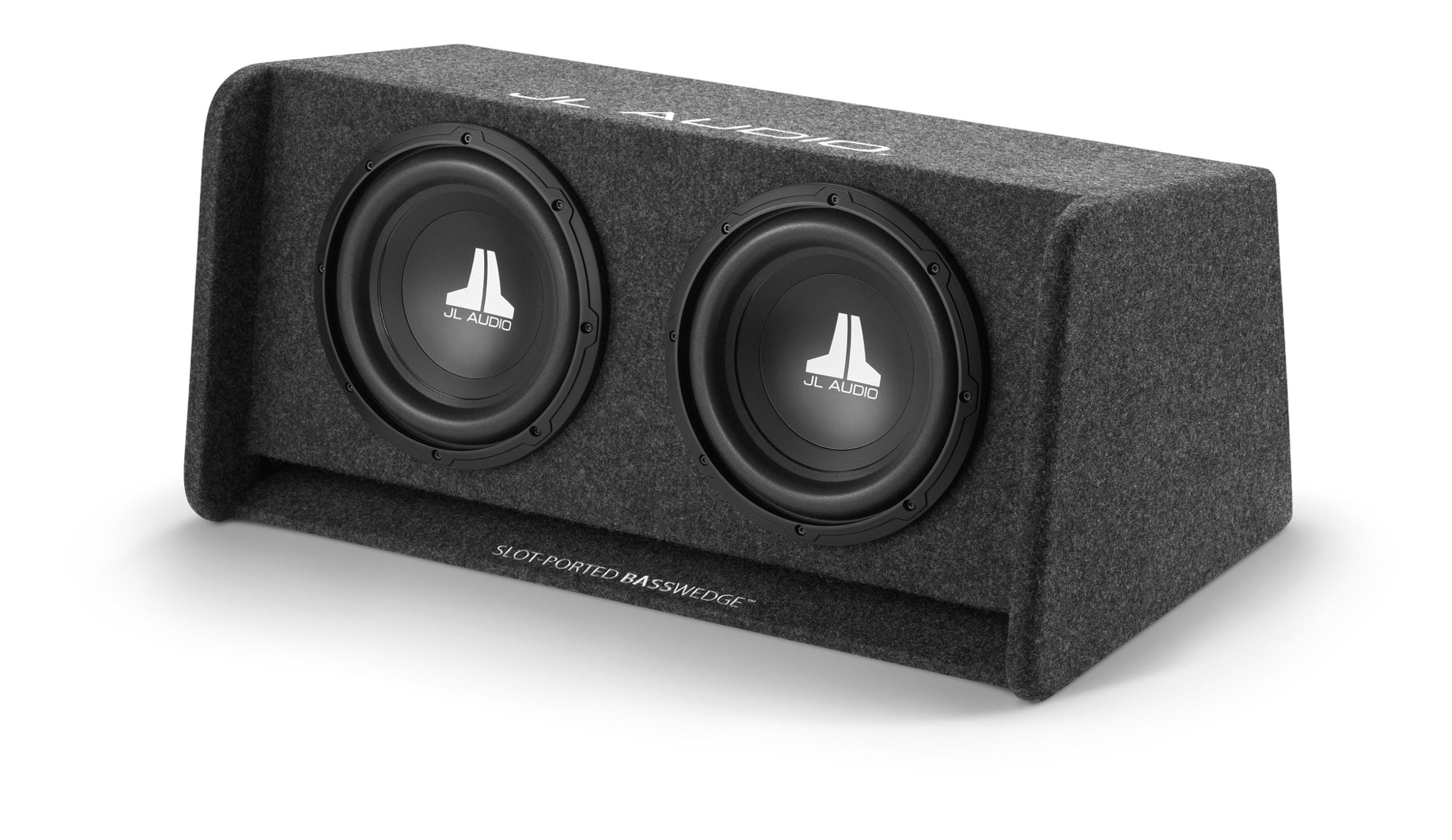 Front of CP210-W0v3 Enclosed Subwoofer Facing Left