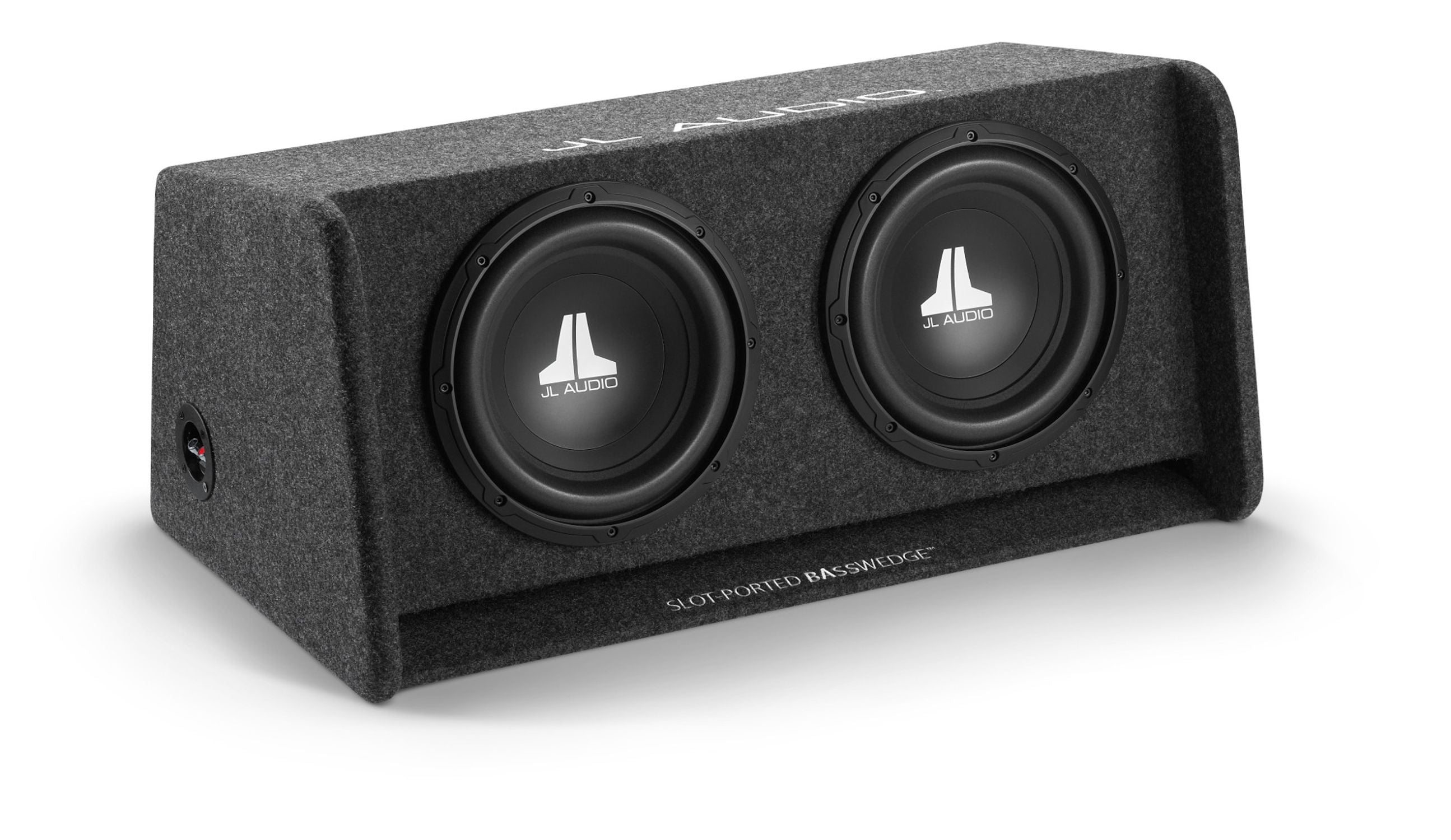 Front of CP210-W0v3 Enclosed Subwoofer Facing Right