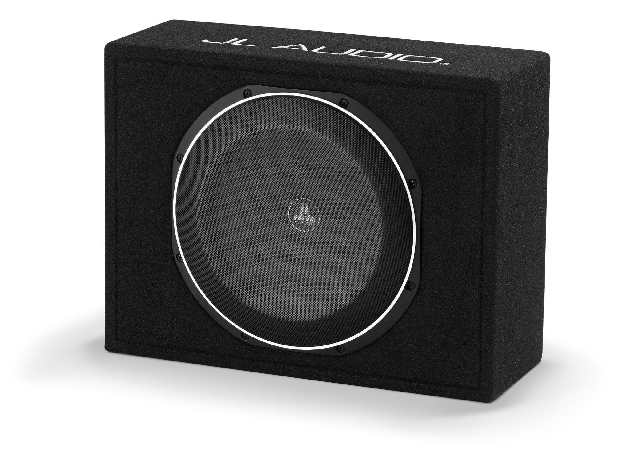 Front of CS112LG-TW1 Enclosed Subwoofer Facing Left