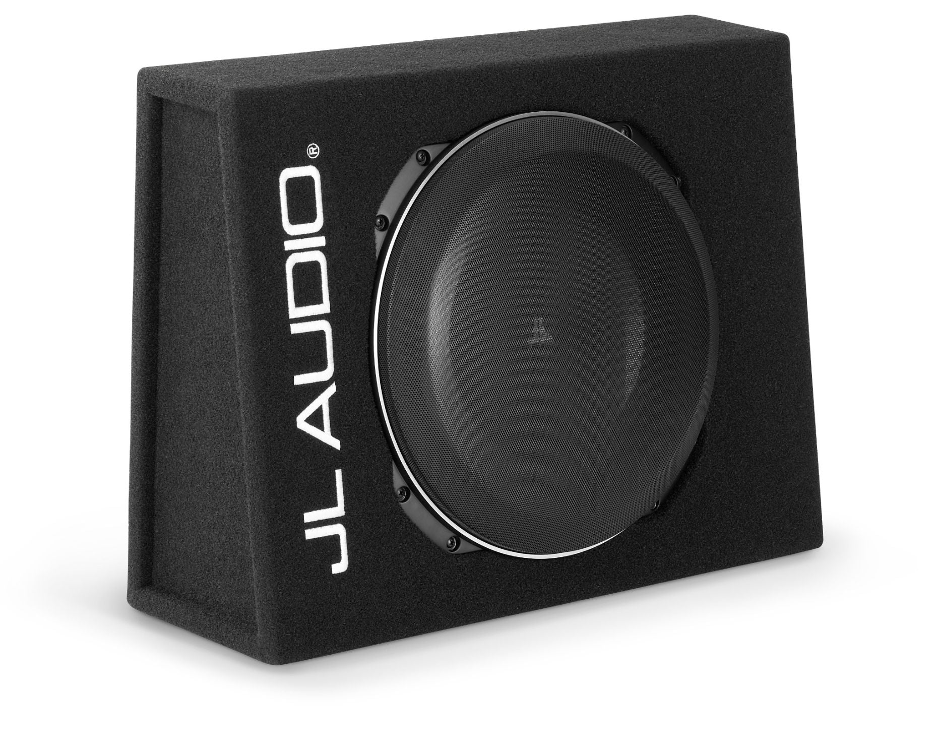Front of CS113TG-TW5v2 Enclosed Subwoofer Facing Right