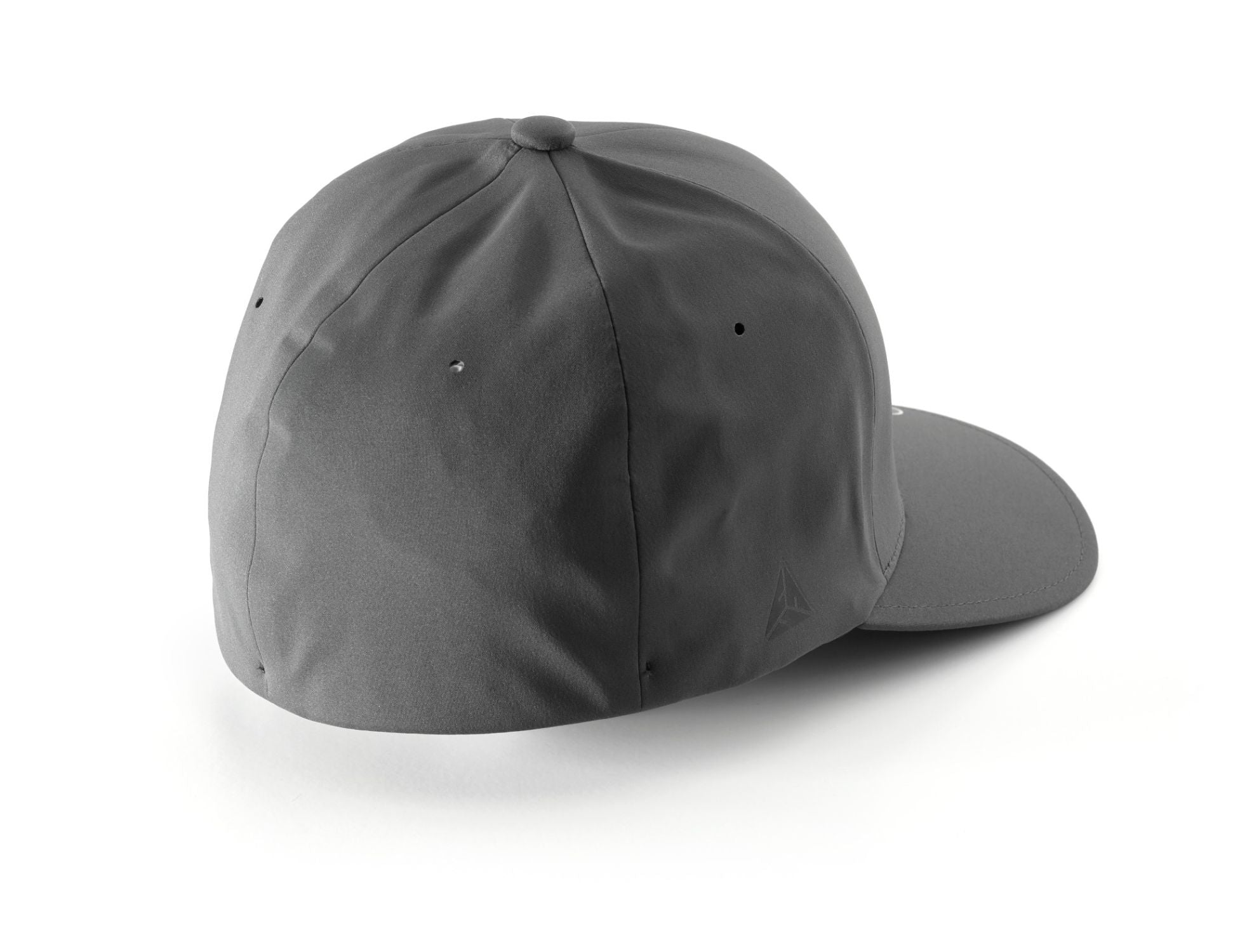 Back of Dark Gray FlexFit Hat with JL Audio Logo Facing Left