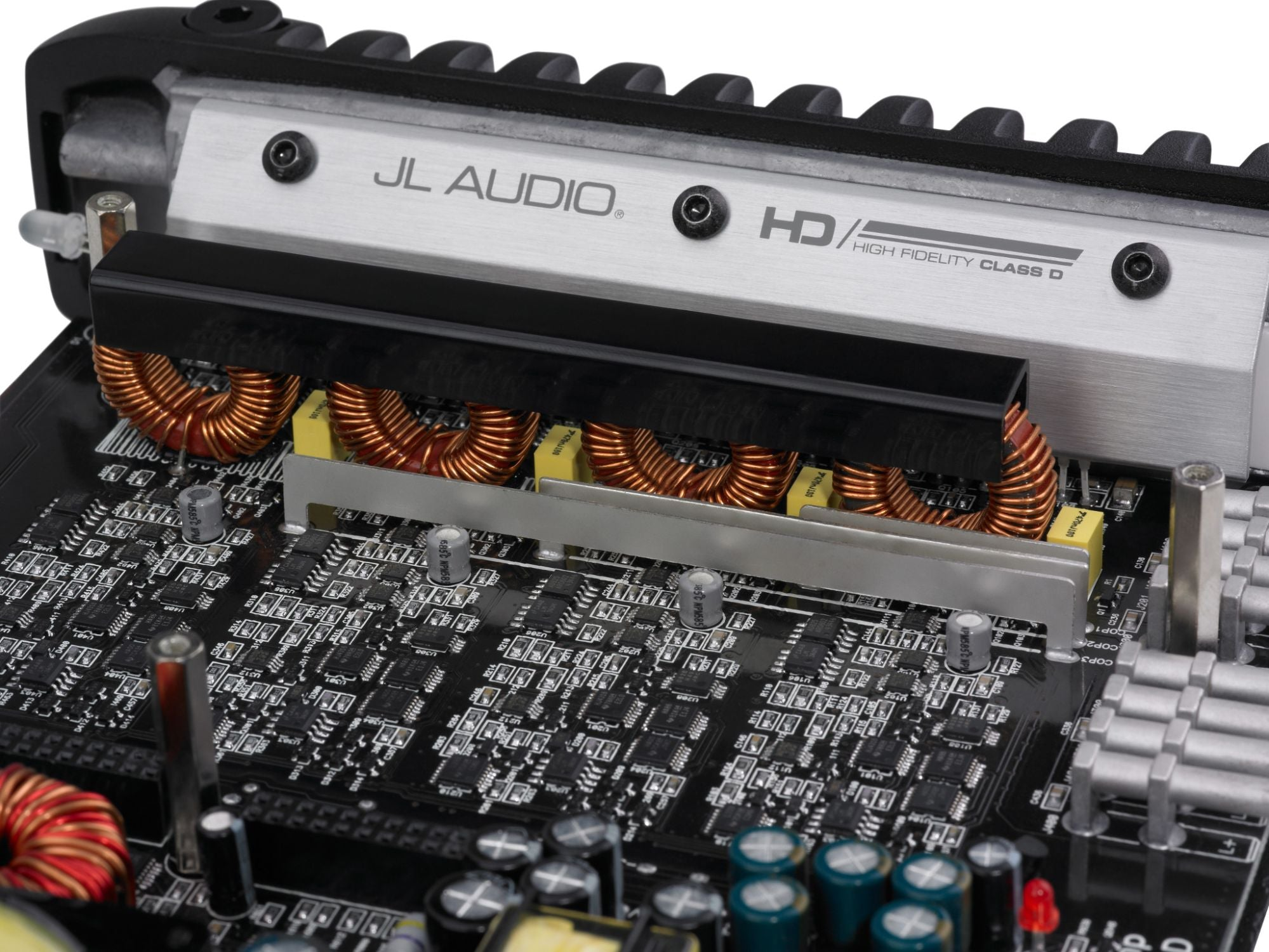 Detail of HD600/4 Amplifier Internals and Heatsink