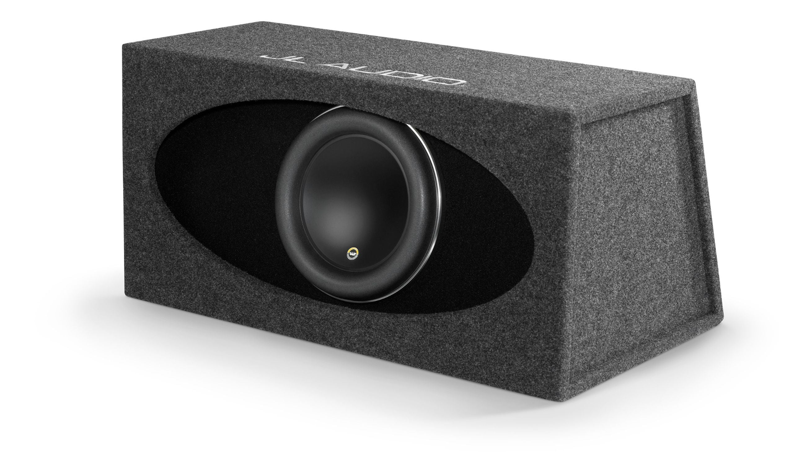 Front of HO112R-W7AE Enclosed Subwoofer Facing Left