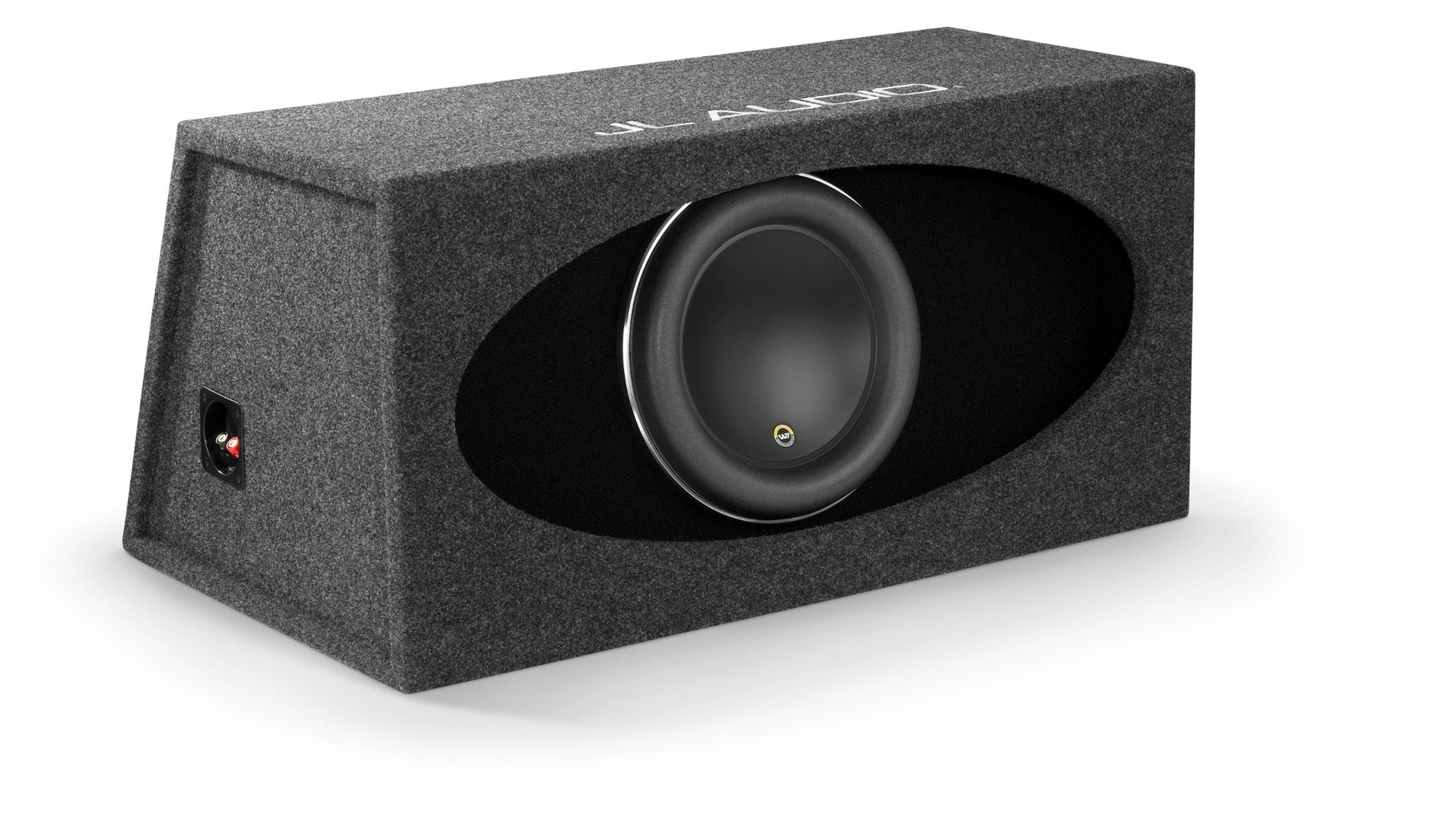 Front of HO112R-W7AE Enclosed Subwoofer Facing Right