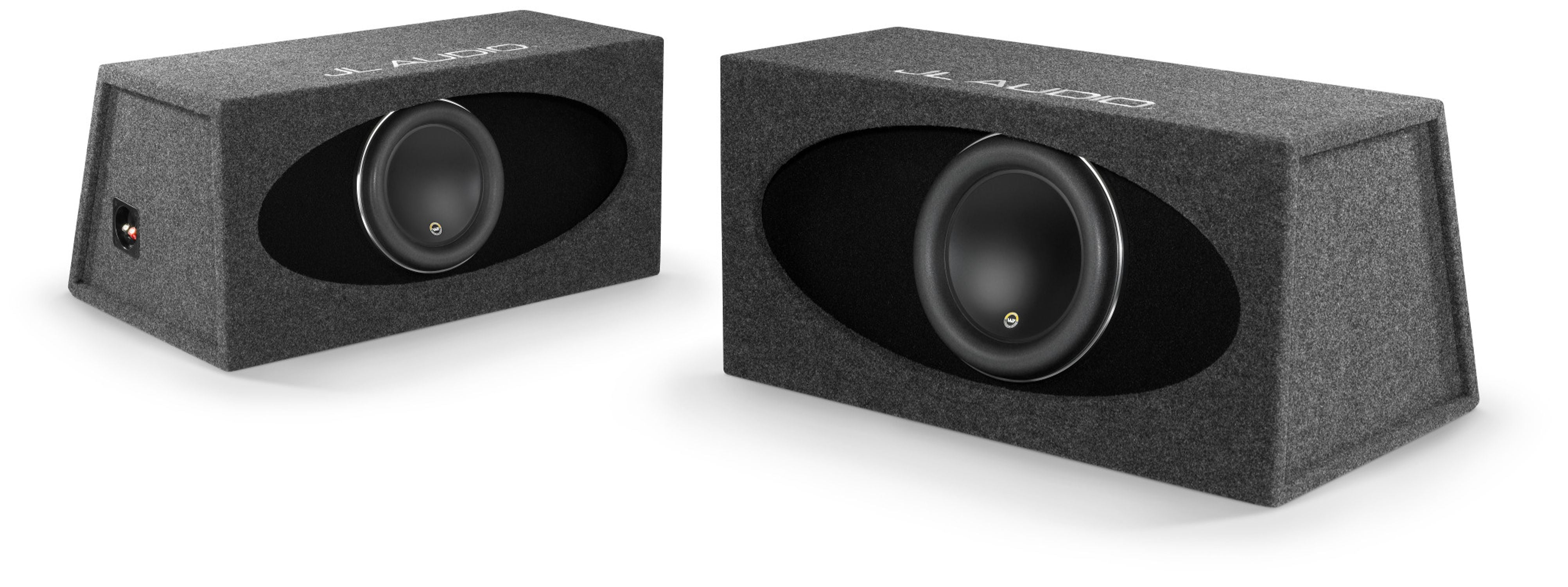 HO112R-W7AE Enclosed Subwoofer Pair Showing Front and Rear