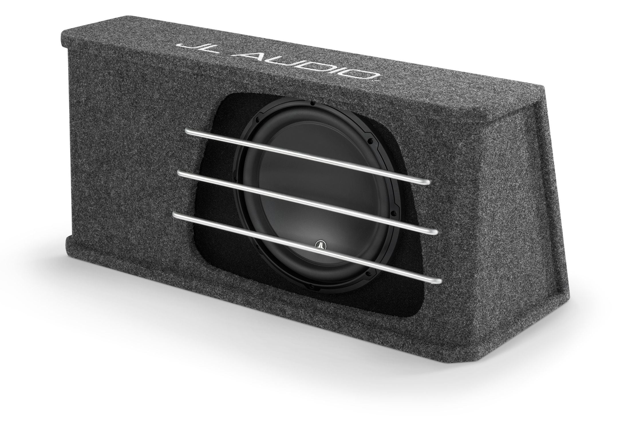 Front of HO112RG-W3v3 Enclosed Subwoofer Facing Left