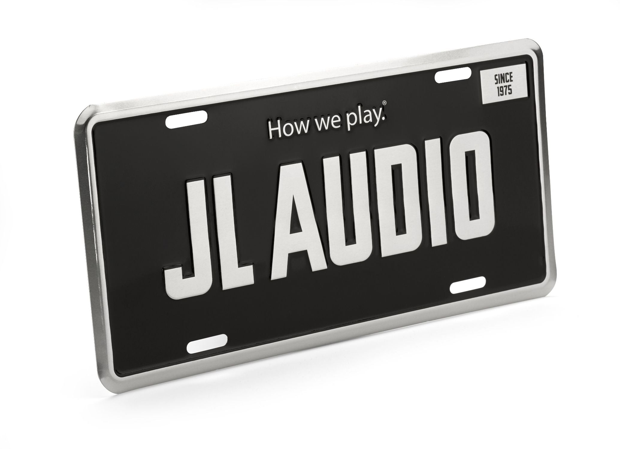Black JL Audio License Plate