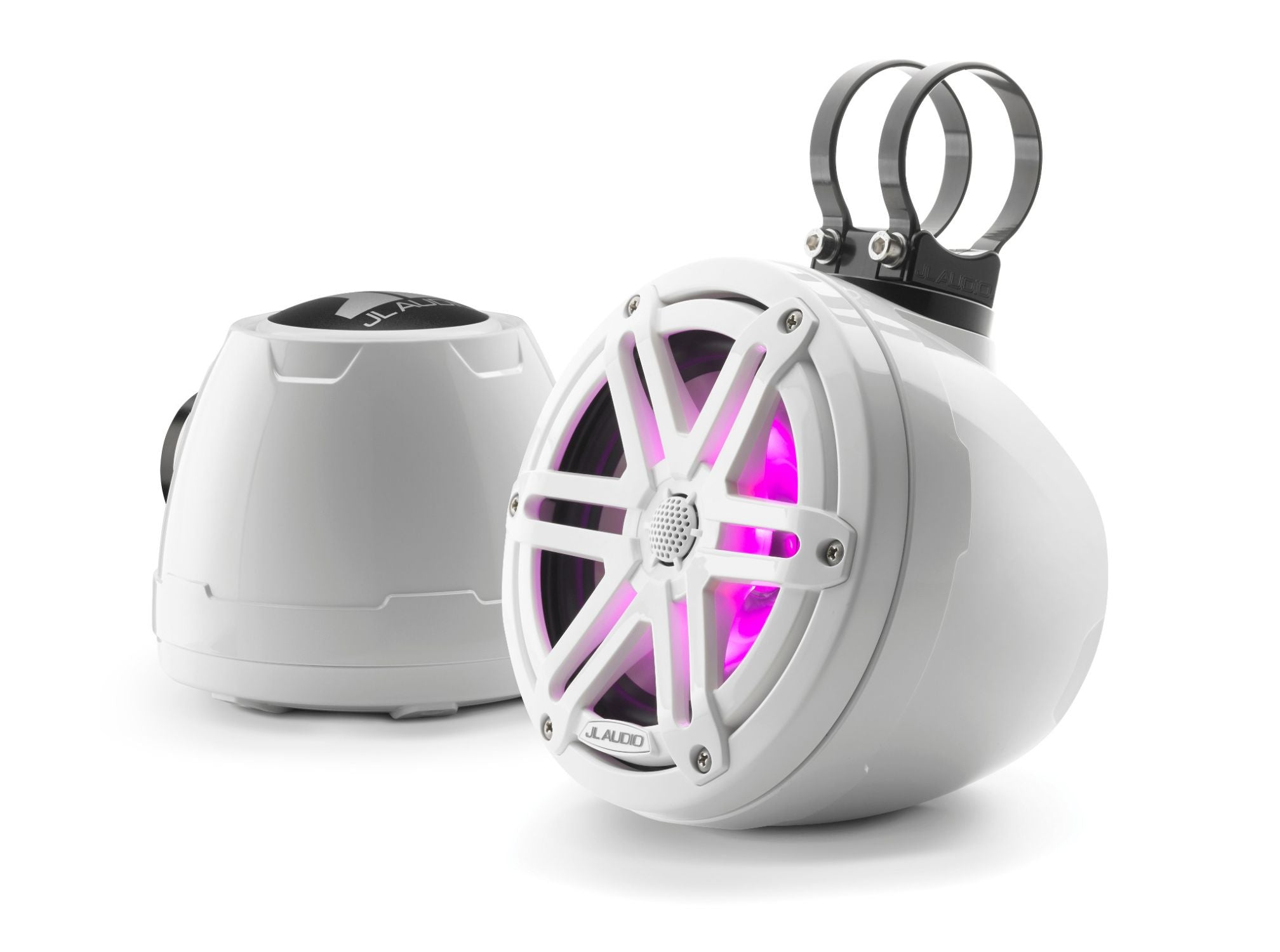 Pair of M3-650VEX-Gw-S-Gw-i Enclosed Speaker Lit with Pink