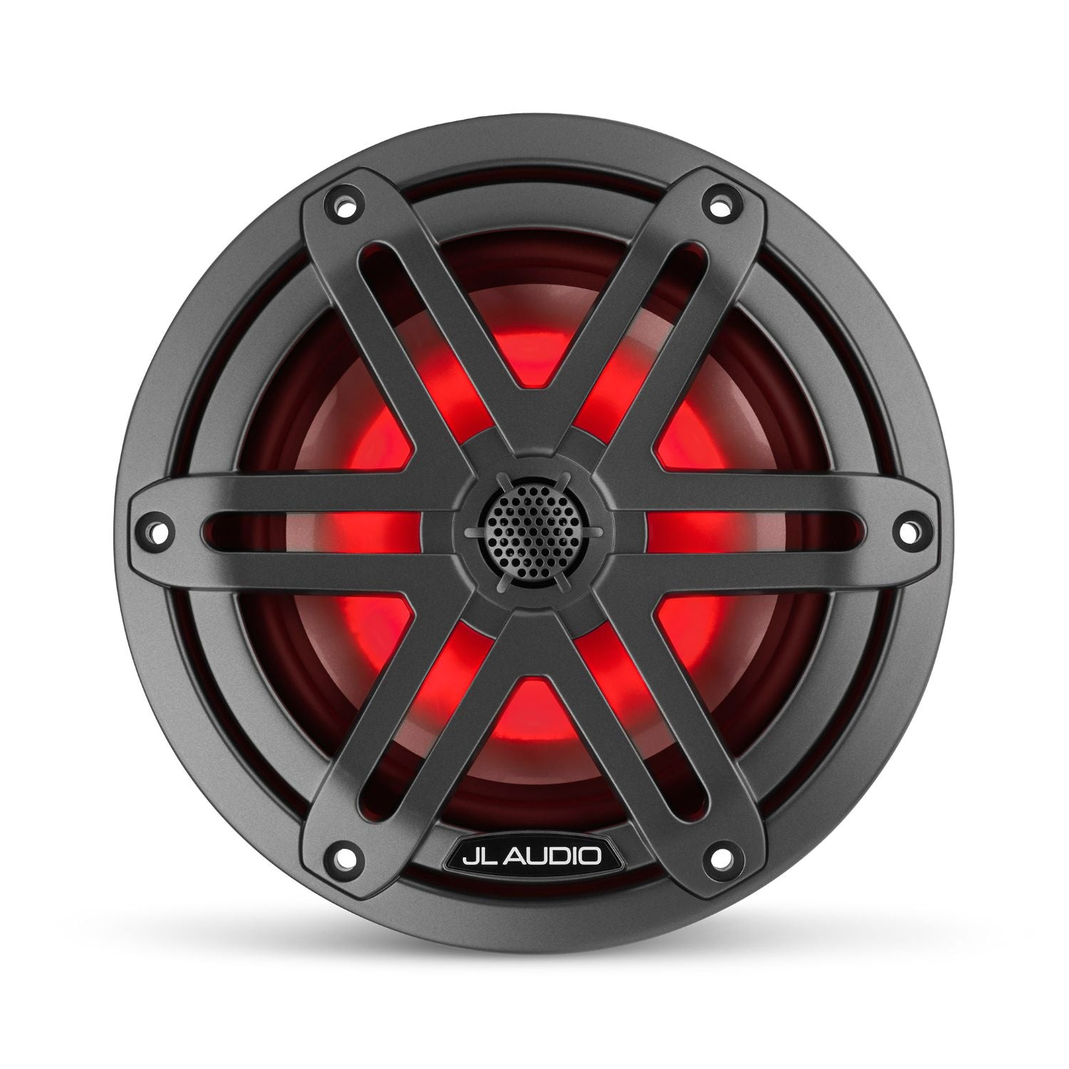 Front Overhead M3-650X-S-Gm-i Coaxial Speaker Lit with Red