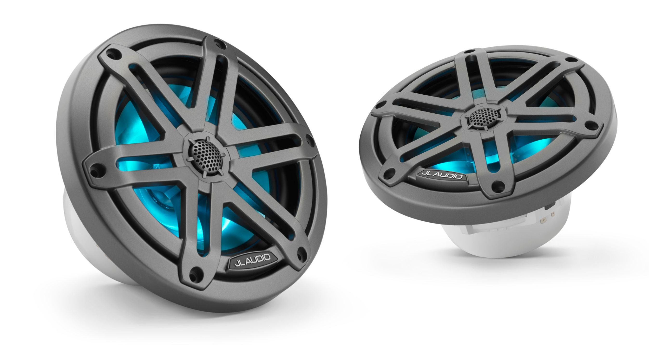 Pair of M3-650X-S-Gm-i Coaxial Speaker Lit with Aqua
