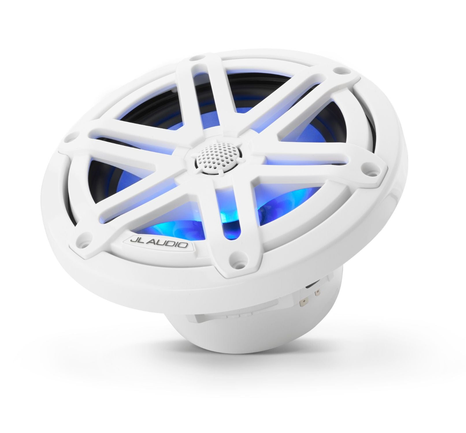 M3-650X-S-Gw-i Coaxial Speaker Tilted Lit with Blue