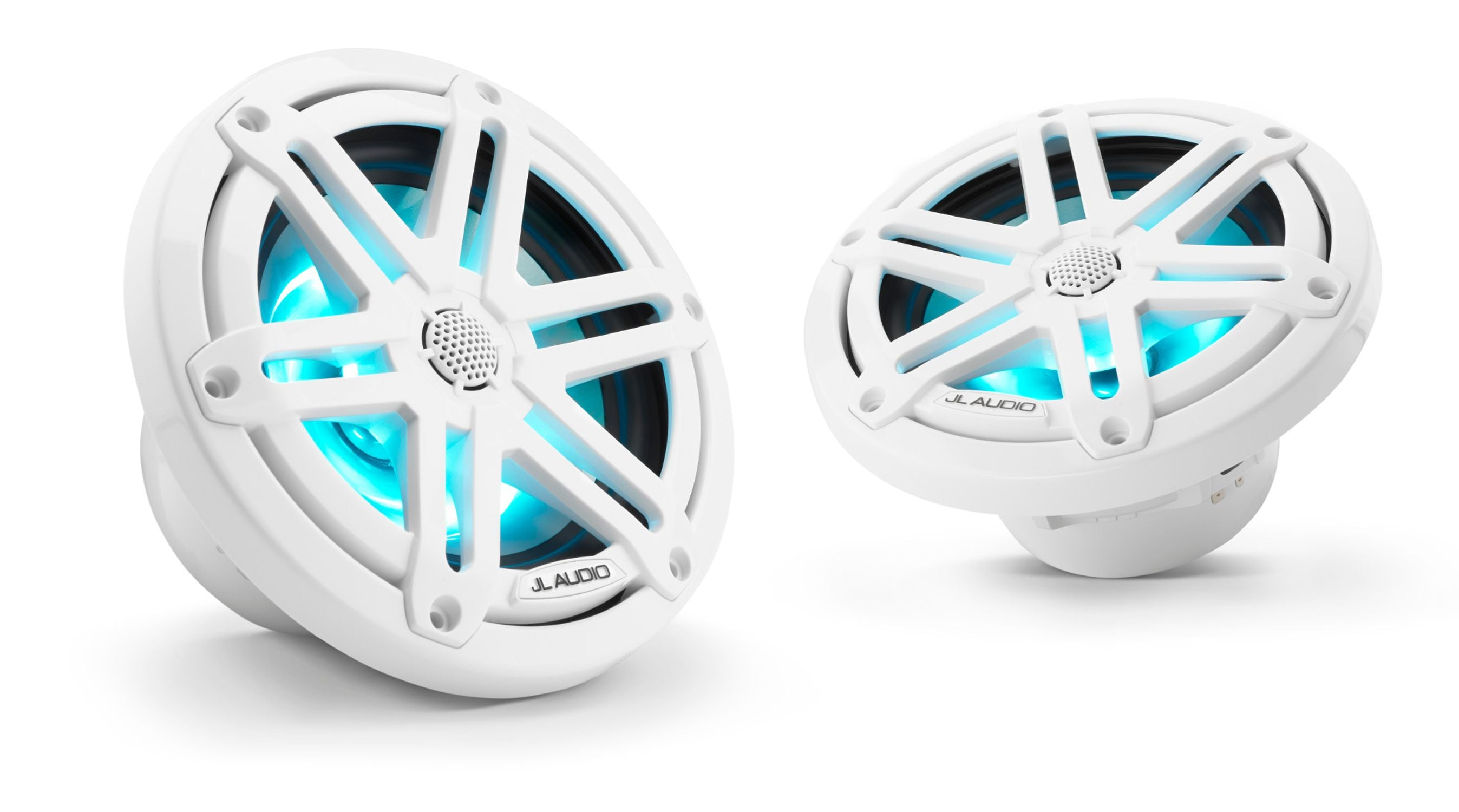 Pair of M3-650X-S-Gw-i Coaxial Speaker Lit with Aqua