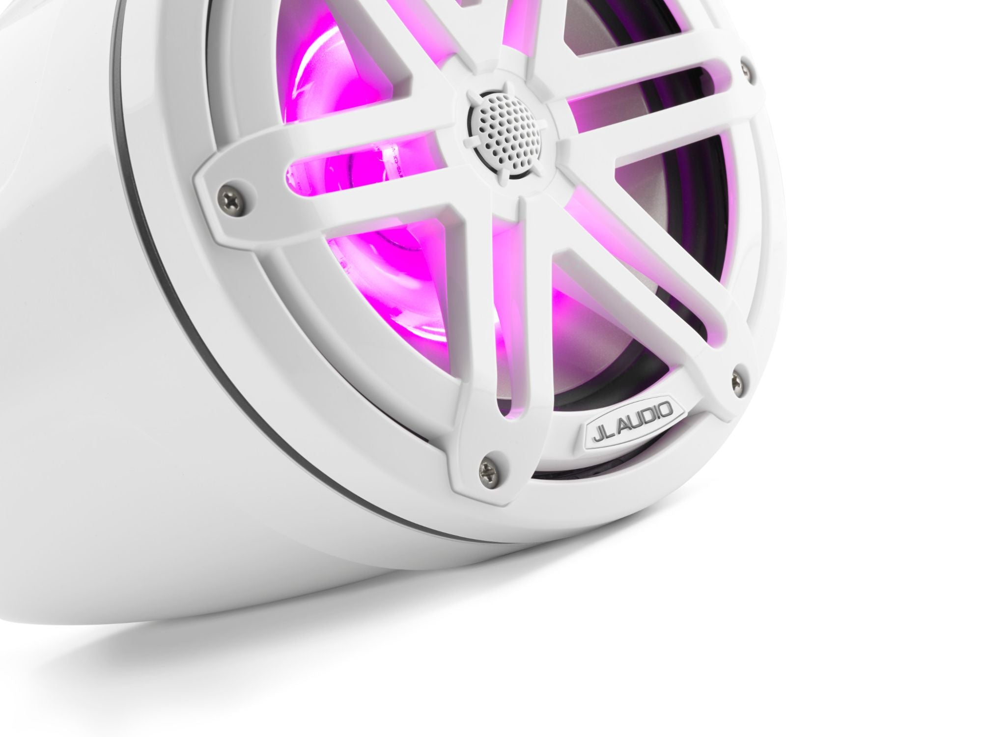 Detail of M3-770ETXv3-Gw-S-Gw-i Enclosed Speaker Lit with Pink