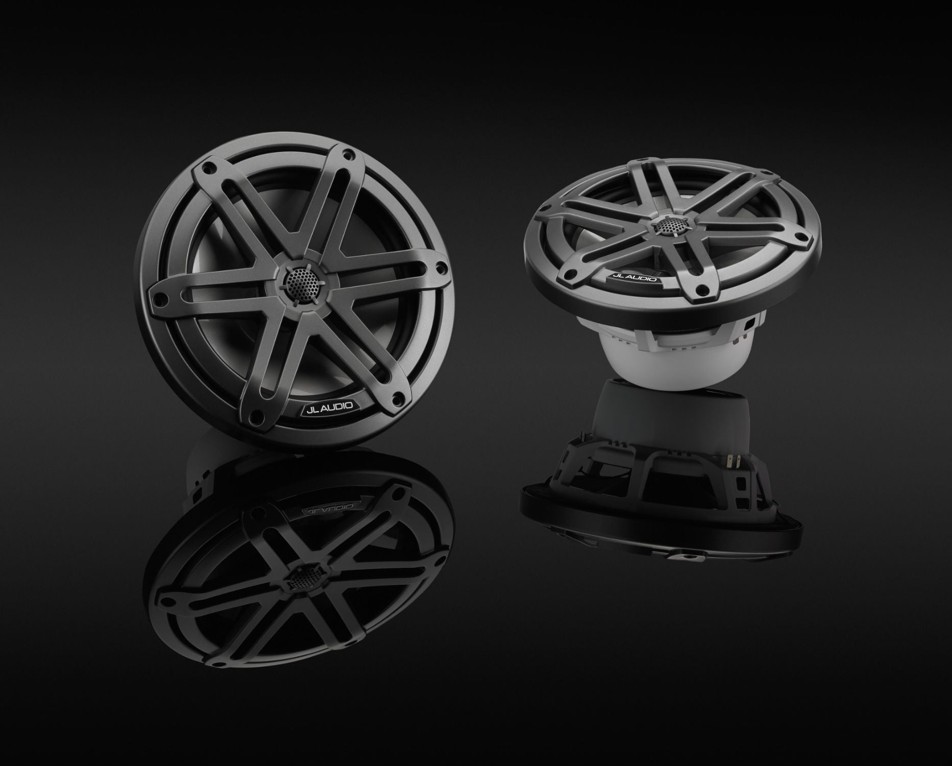 Pair of M3-770X-S-Gm Coaxial Speaker on Black