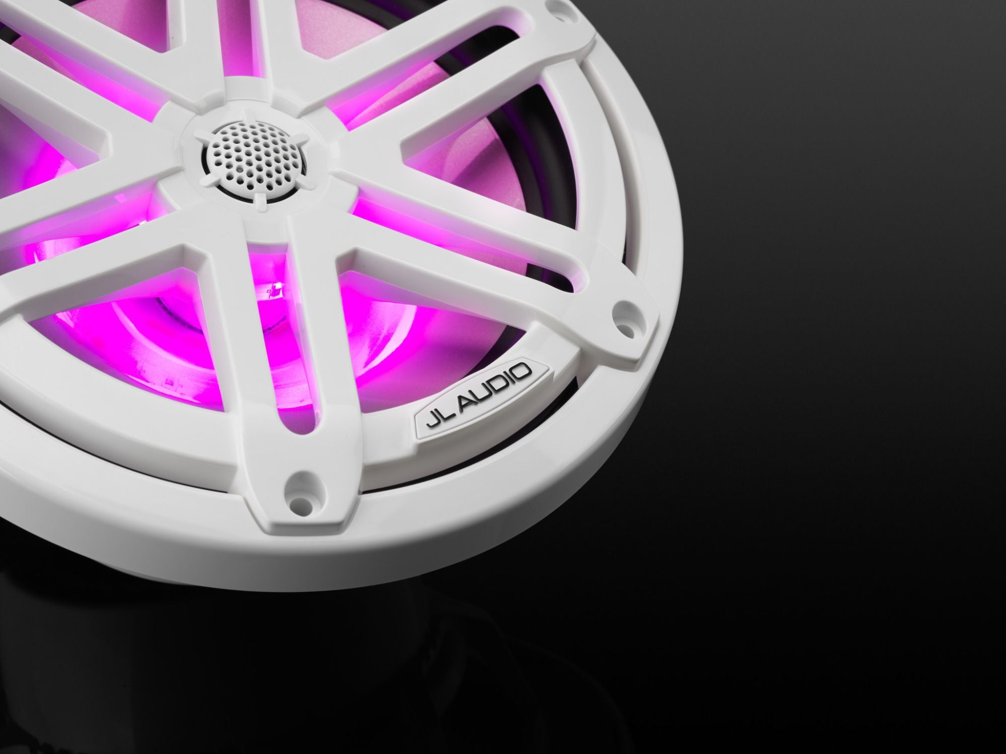 Detail of M3-770X-S-Gw-i Coaxial Speaker Lit with Pink