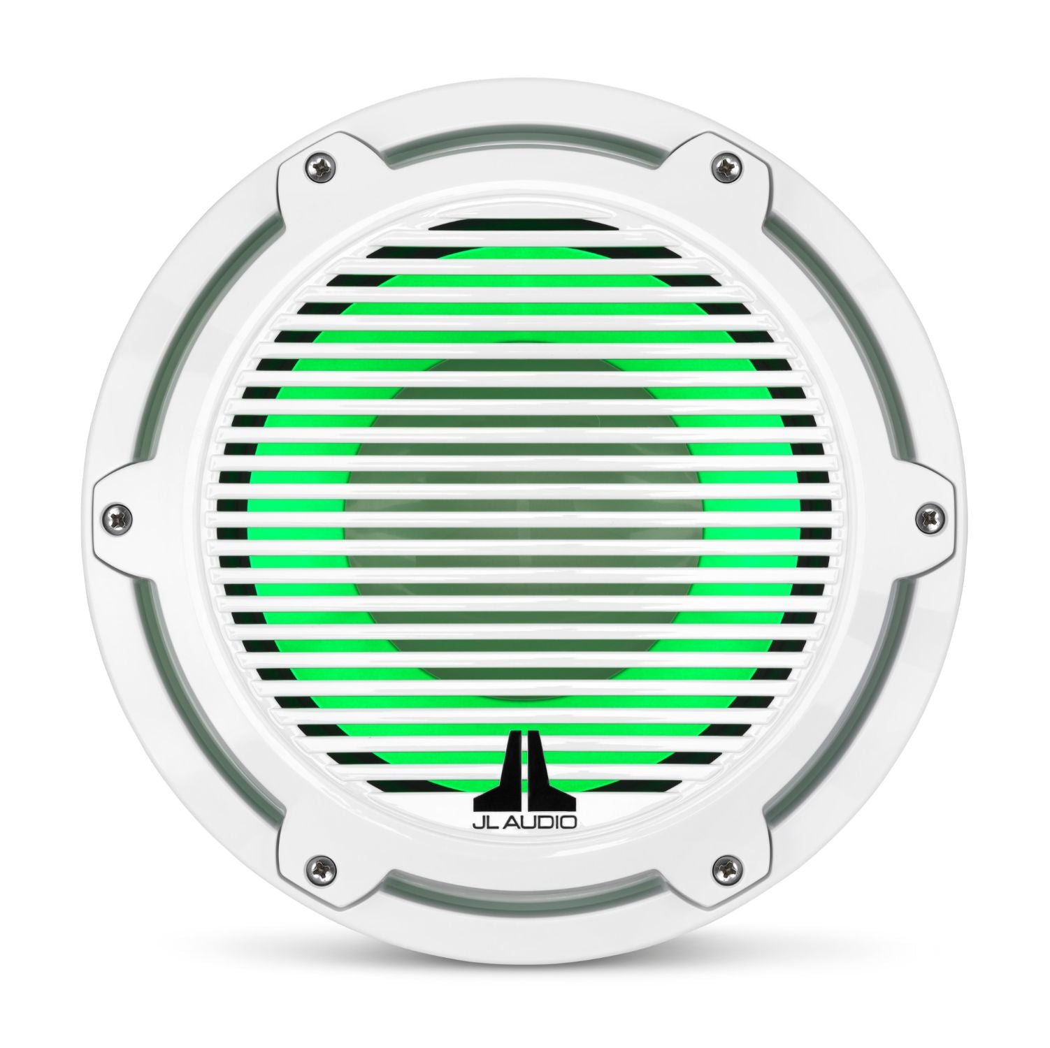 Front Overhead of M6-10IB-C-GWGw-i-4 Subwoofer Lit with Green