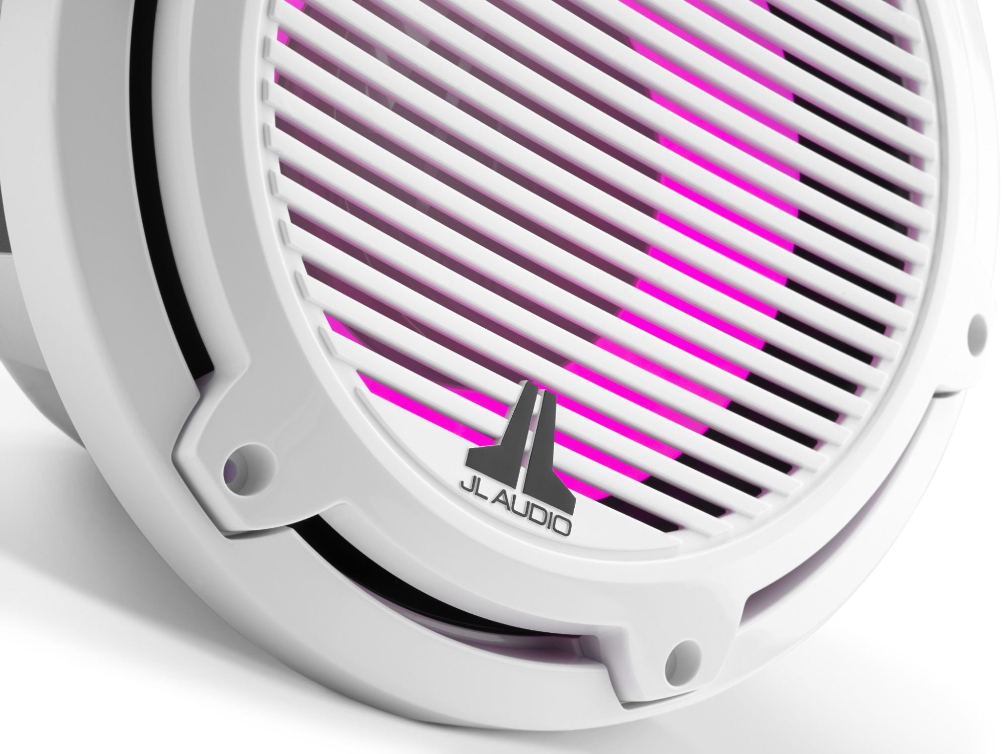 Detail of M6-10IB-C-GwGw-i-4 Subwoofer Lit with Pink
