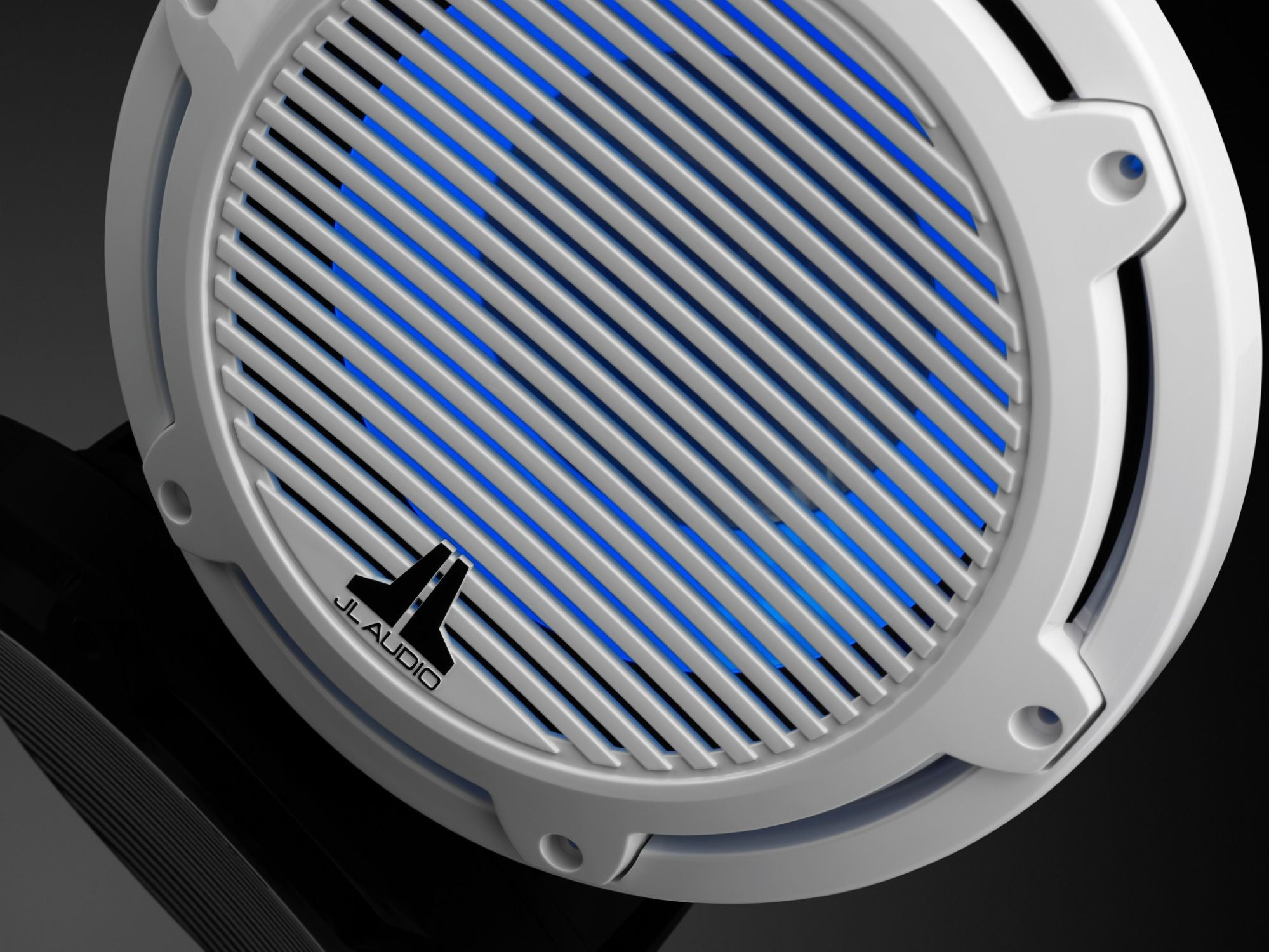 Detail of M6-10IB-C-GwGw-i-4 Subwoofer Lit with Blue