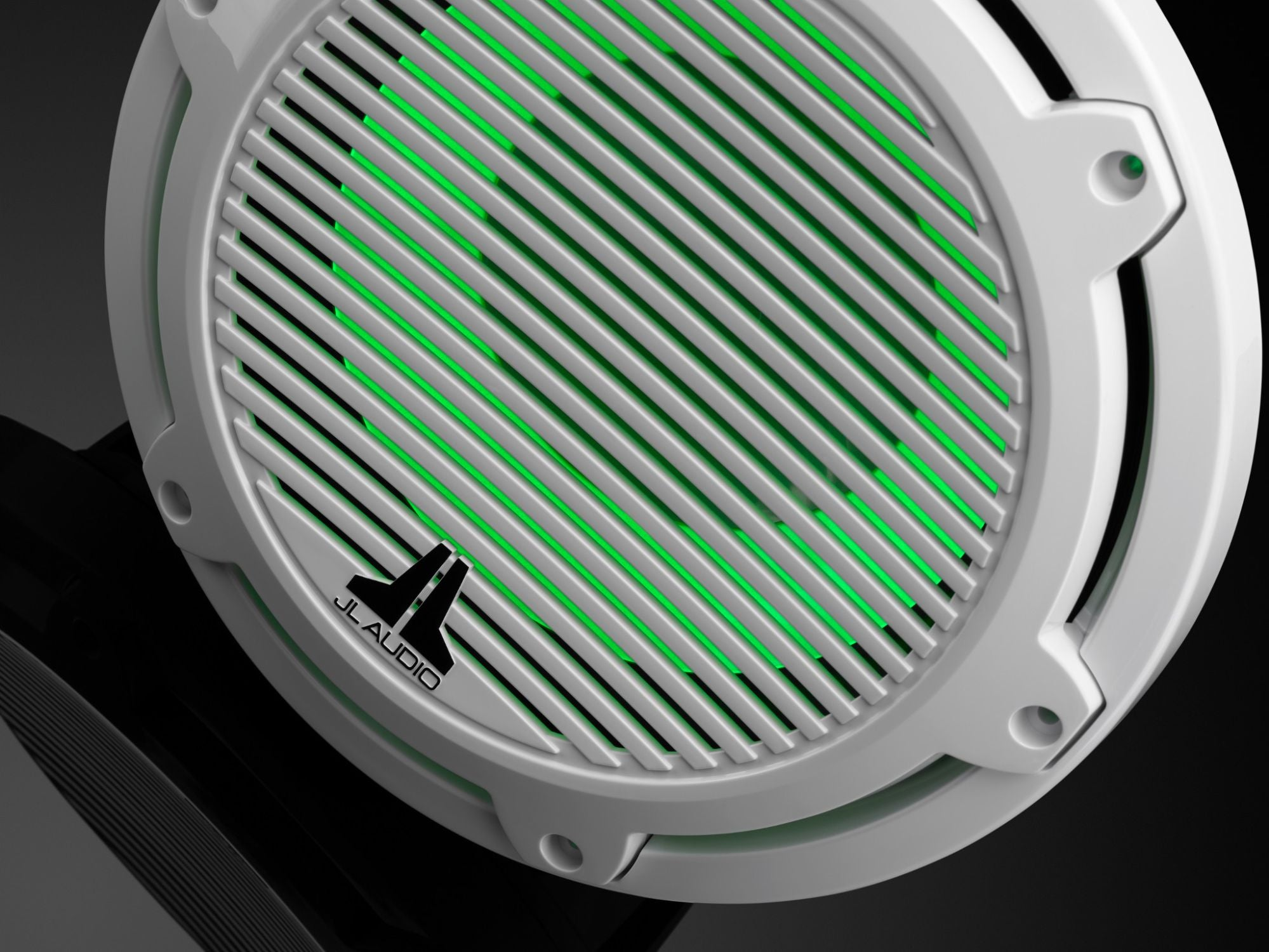 Detail of M6-10IB-C-GwGw-i-4 Subwoofer Lit with Green