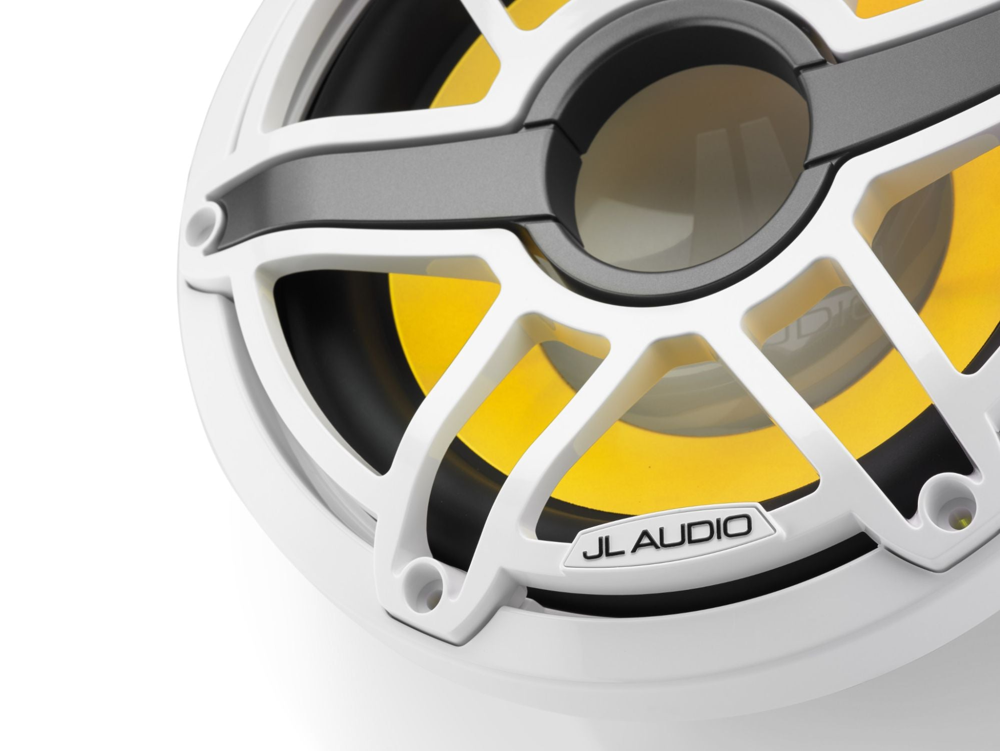 Detail of M6-10IB-S-GwGw-i-4 Subwoofer Lit with Yellow