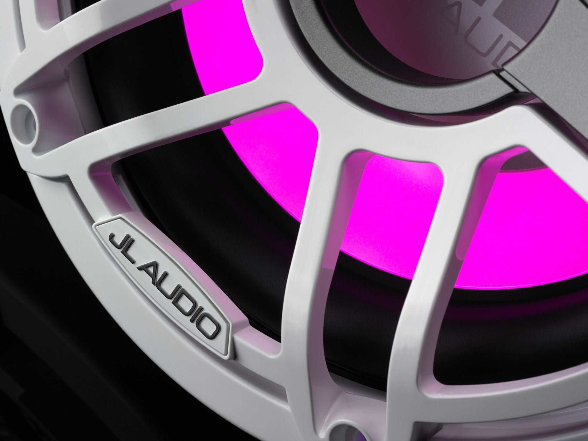 Detail of M6-10W-S-GwGw-i-4 Subwoofer Lit with Pink