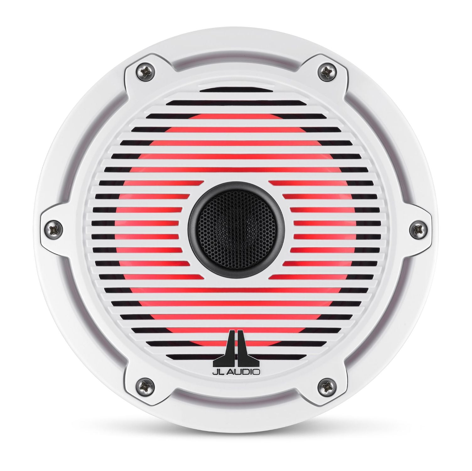 Front Overhead M6-650X-C-GwGw-i Coaxial Speaker Lit with Red