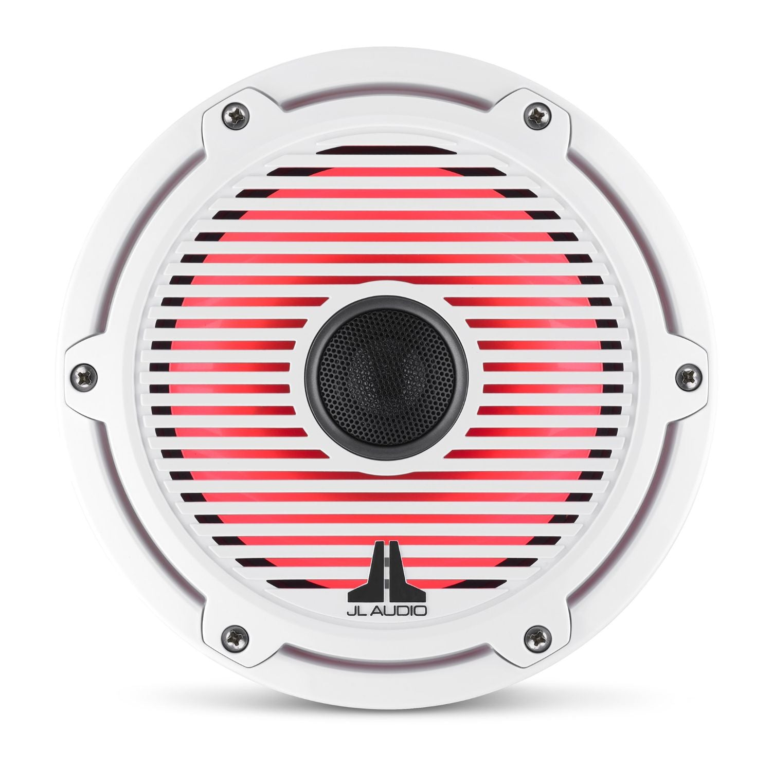Front Overhead M6-770X-C-GwGw-i Coaxial Speaker Lit with Red