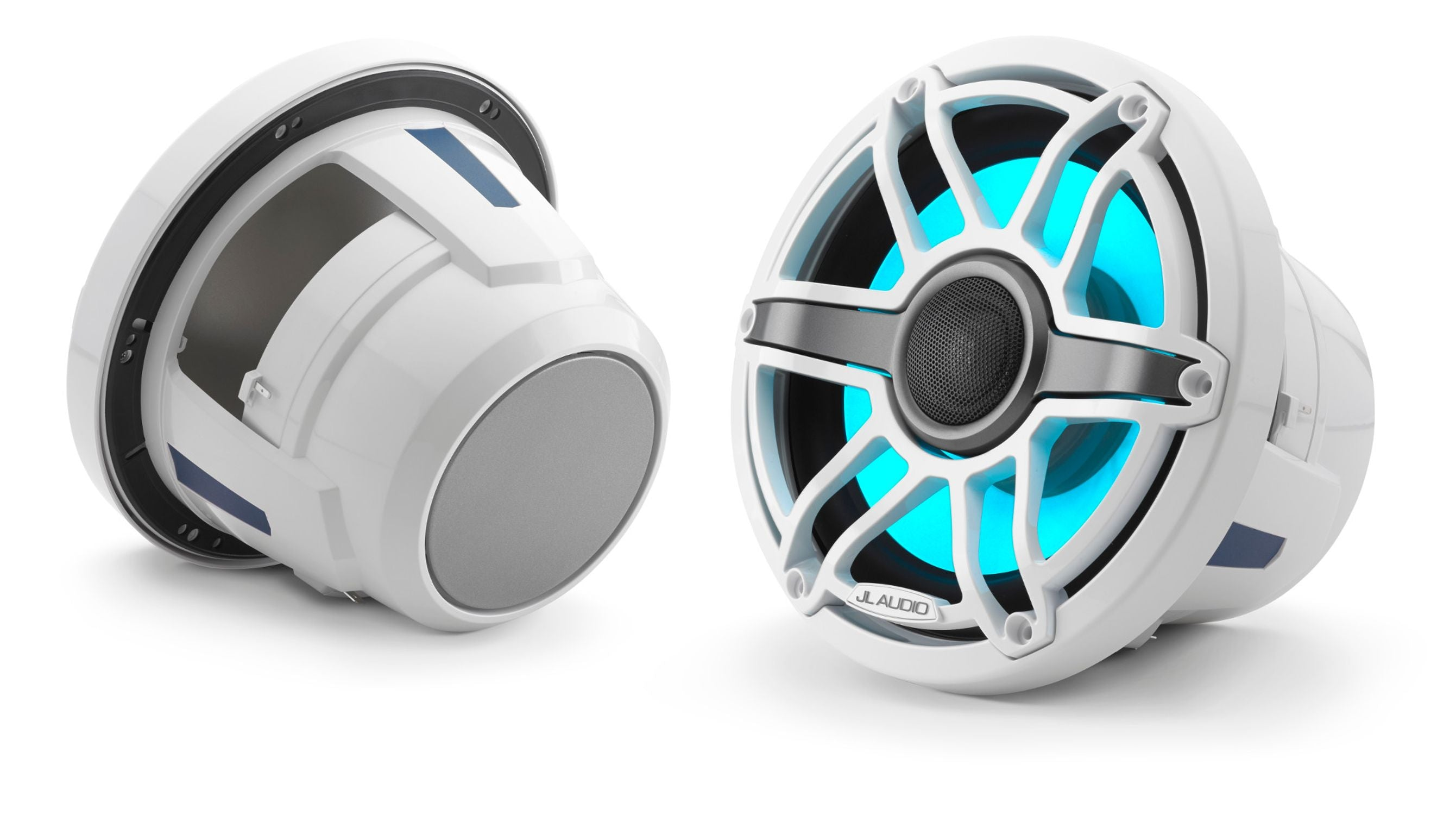 Pair of M6-880X-S-GwGw-i Coaxial Speaker Lit with Aqua