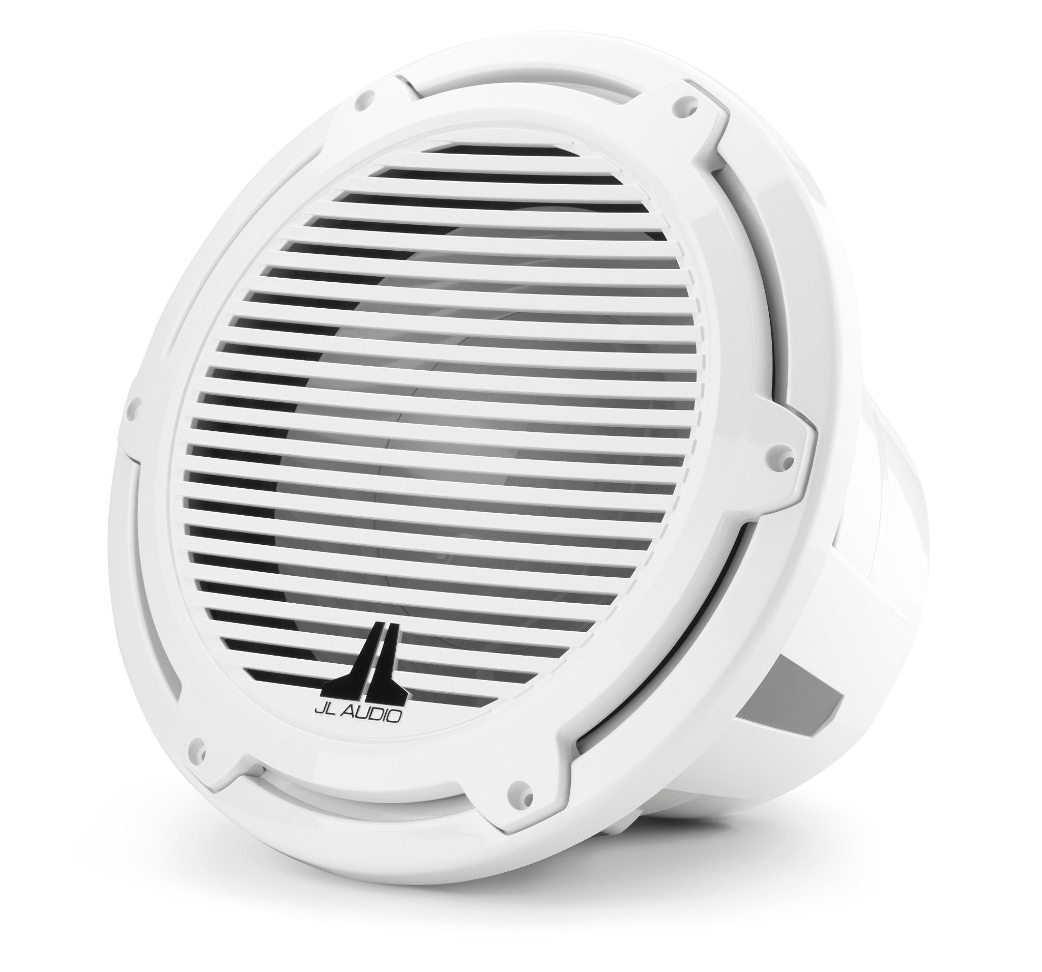 Front of M7-12IB-C-GwGw-4-FLT Marine Subwoofer Facing Left