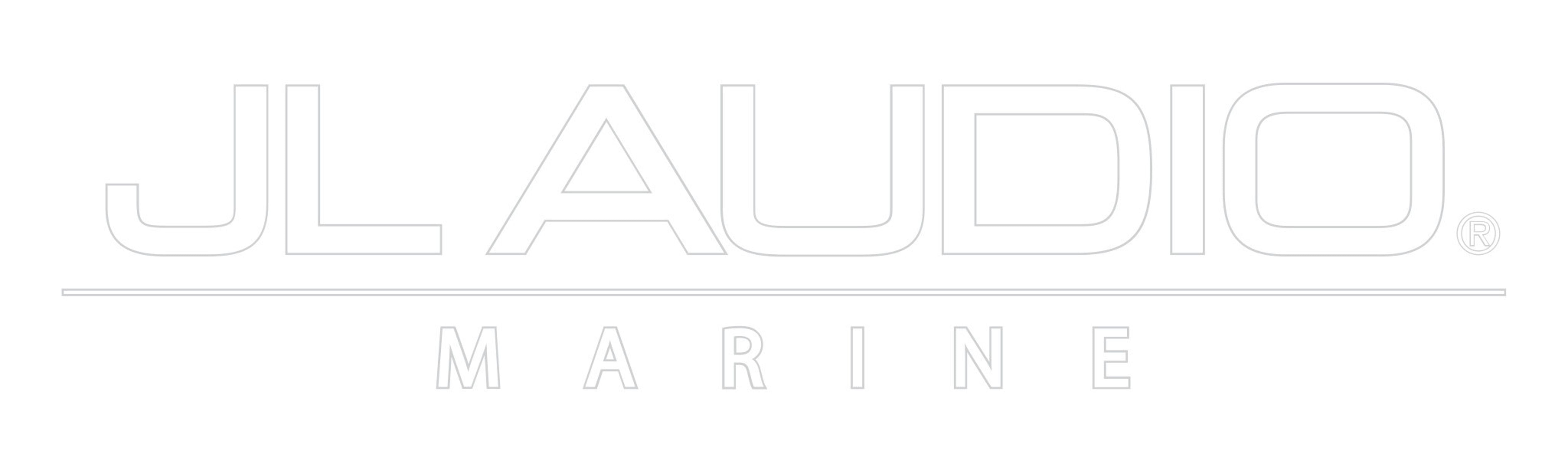 White JL Audio Marine Logo Decal