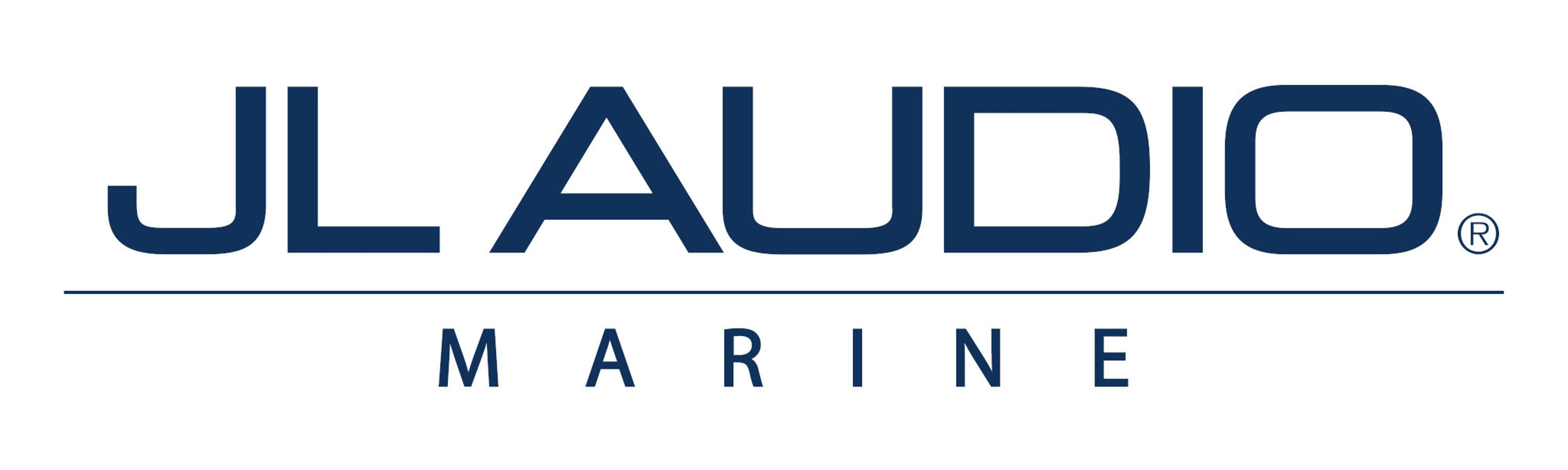 Blue JL Audio Marine Logo Decal