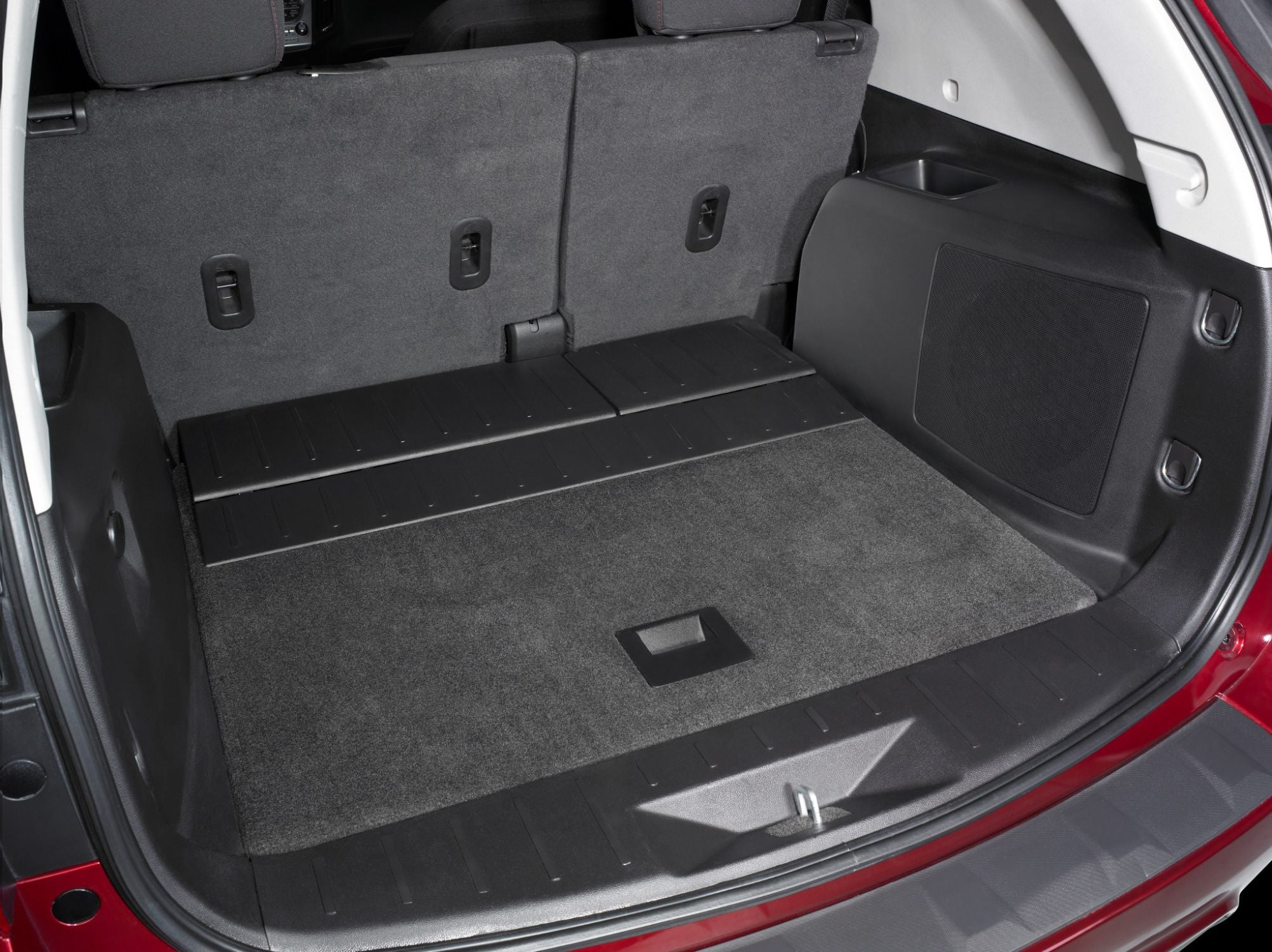 SB-GM-EQNX-10W1v3 Stealthbox Installed in Vehicle