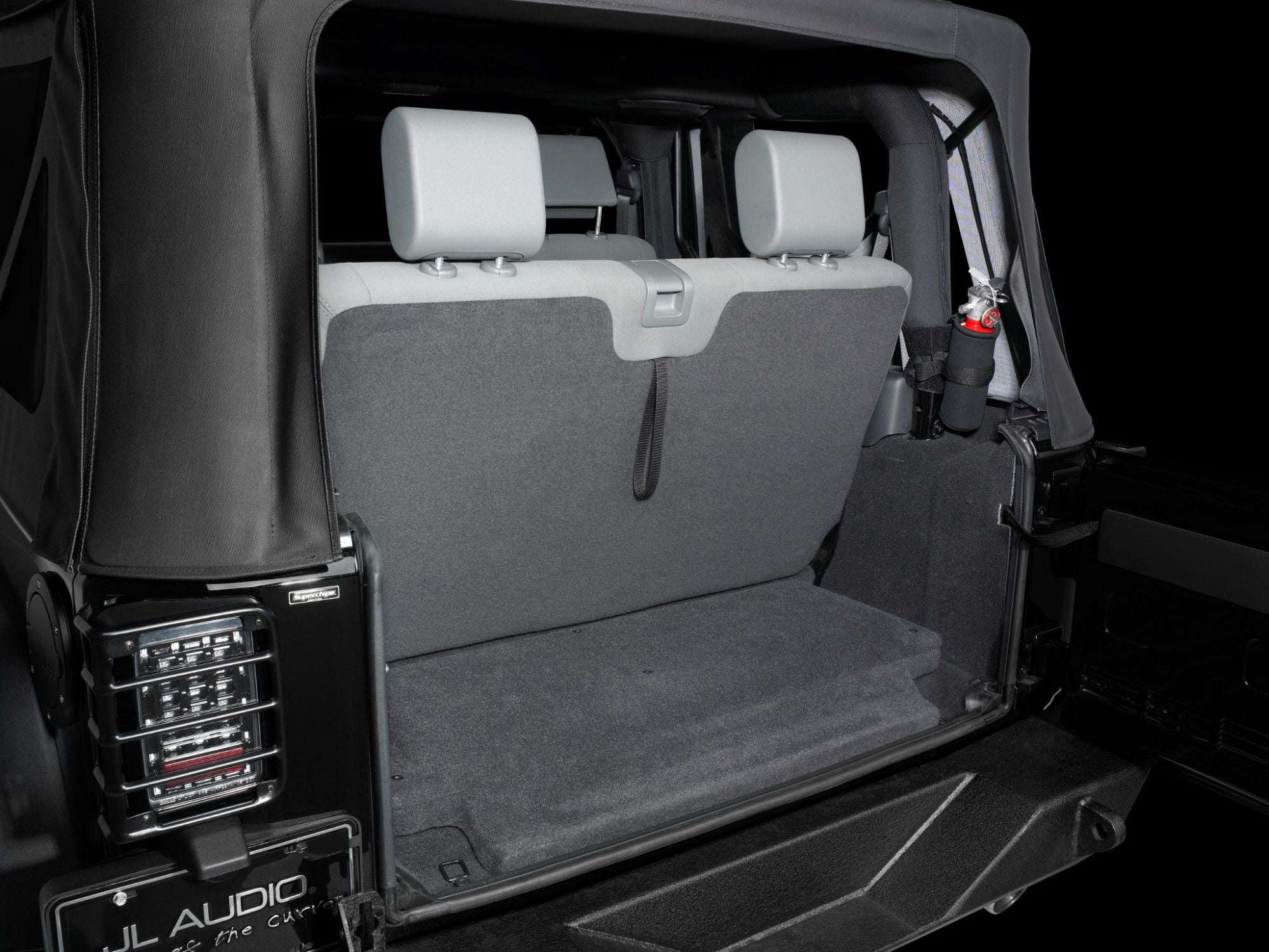 SB-J-JK2DR-10W1v3 Stealthbox Installed in Vehicle