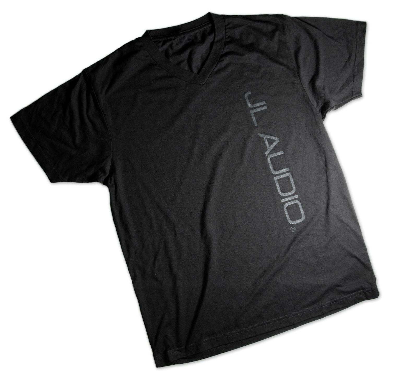 Front of Black Straight-Up Logo T-Shirt