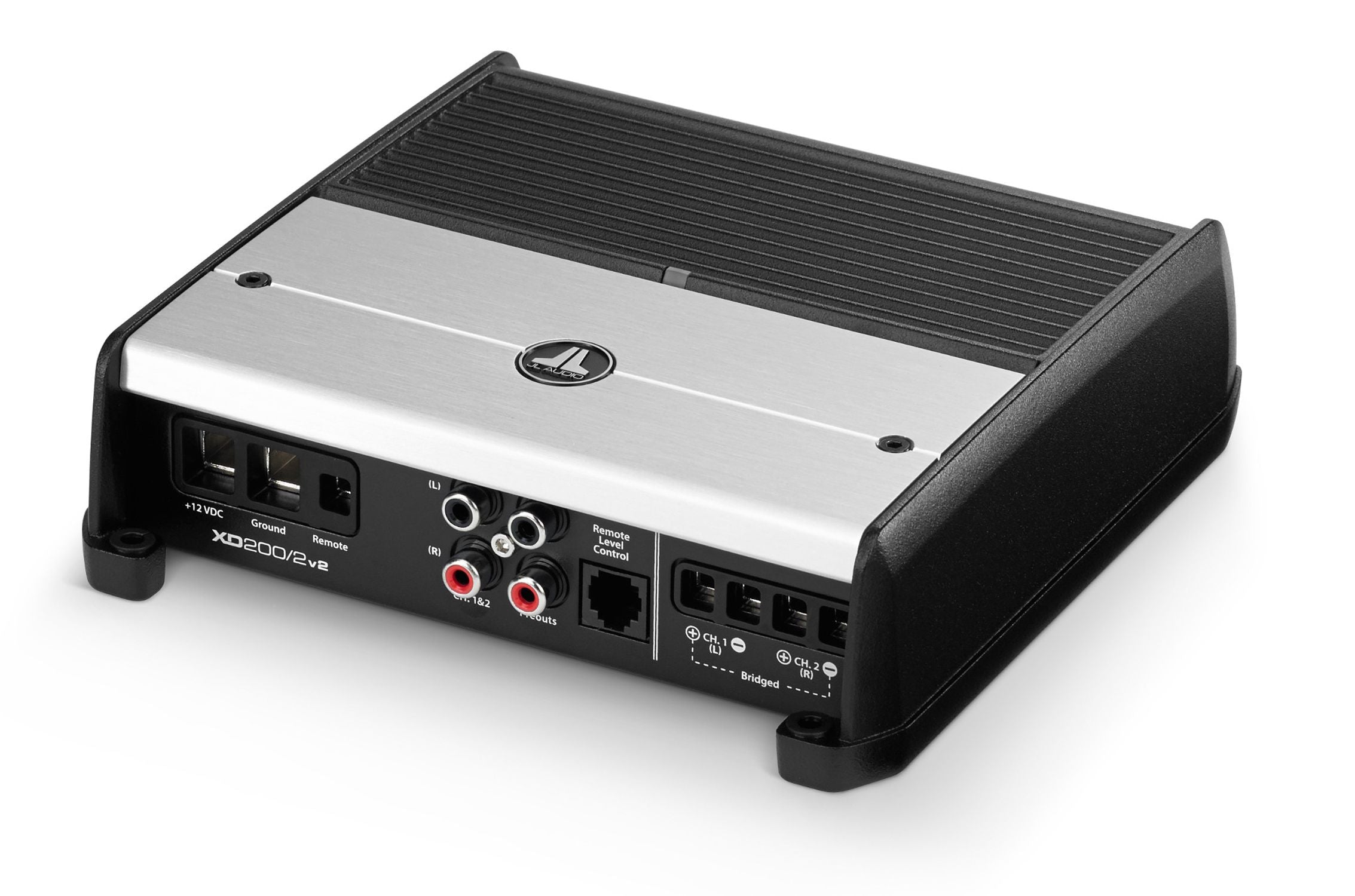 Front of XD200/2v2 Amplifier Facing Left