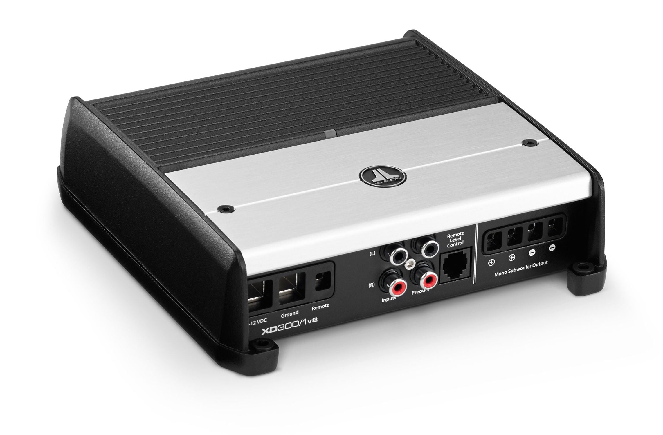 Front of XD300/1v2 Amplifier Facing Right