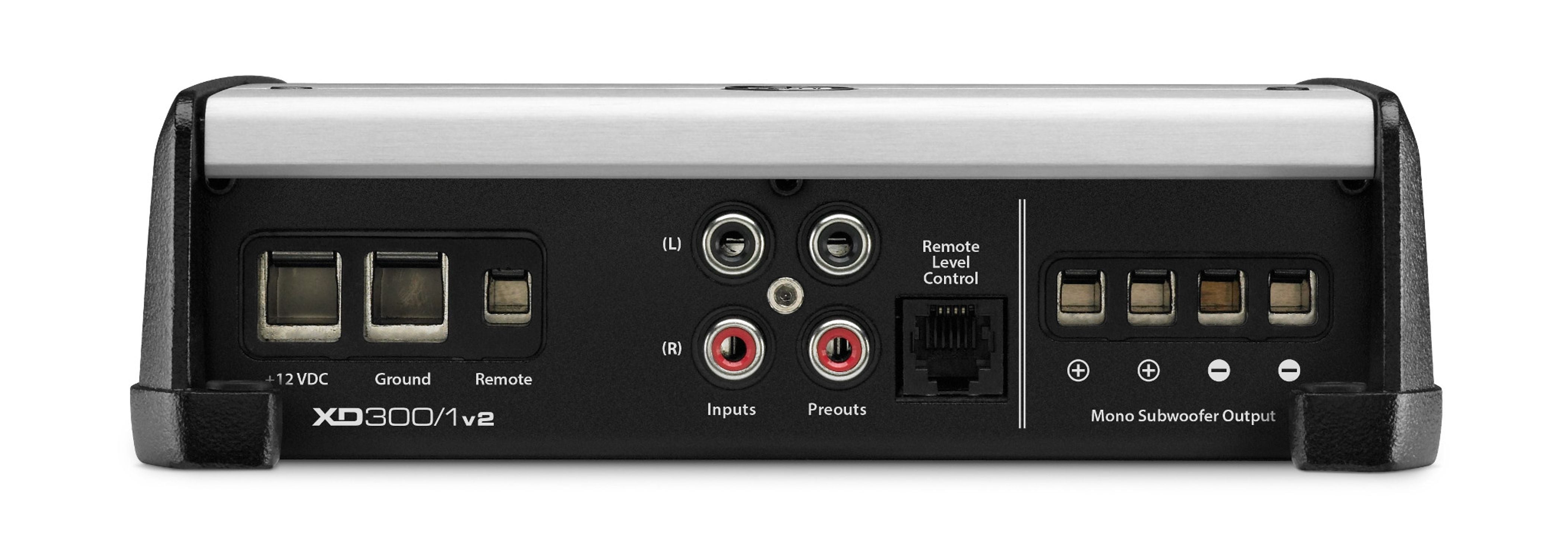 Connection Panel of XD300/1v2 Amplifier with Control Panel Cover on