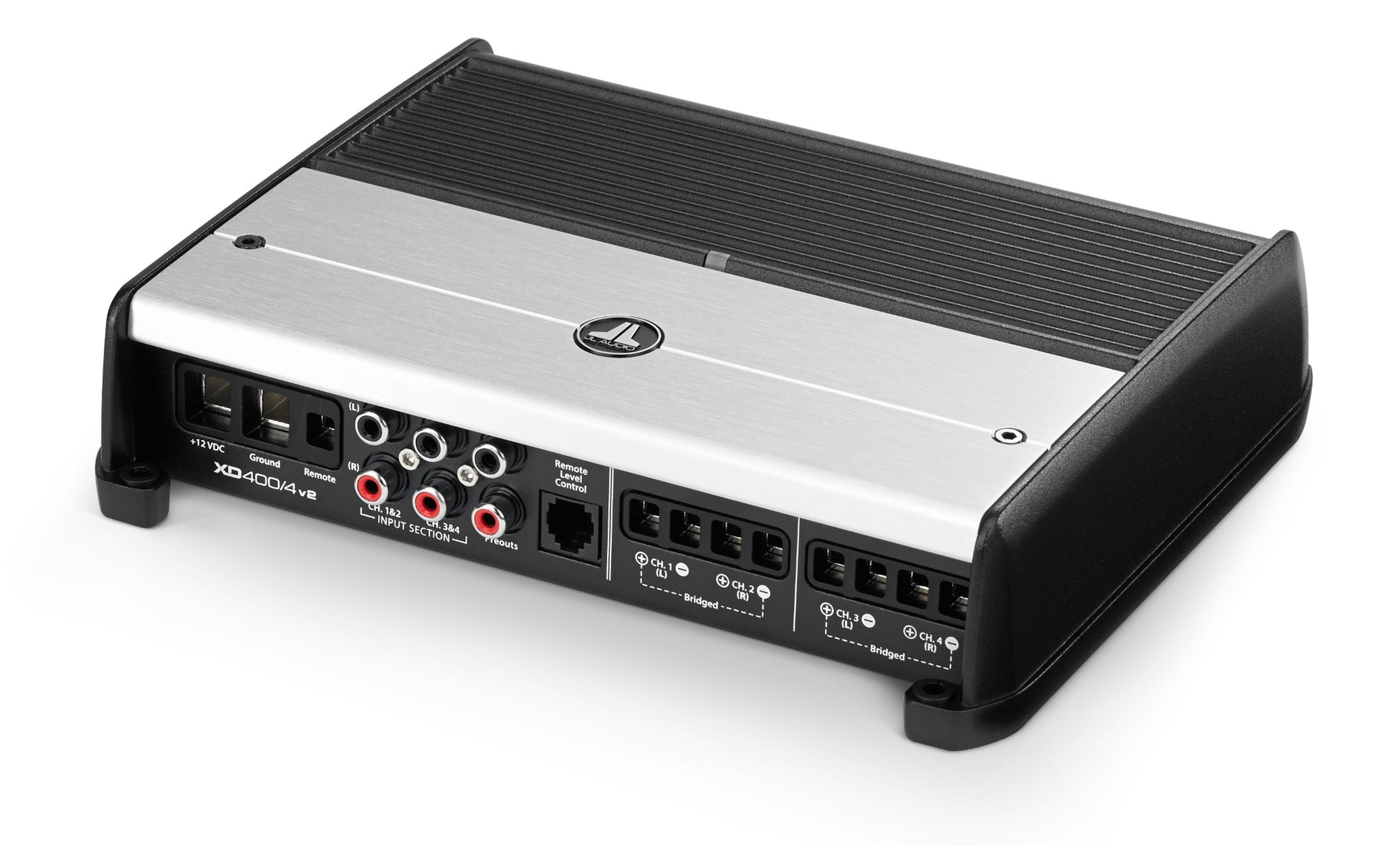 Front of XD400/4v2 Amplifier Facing Left