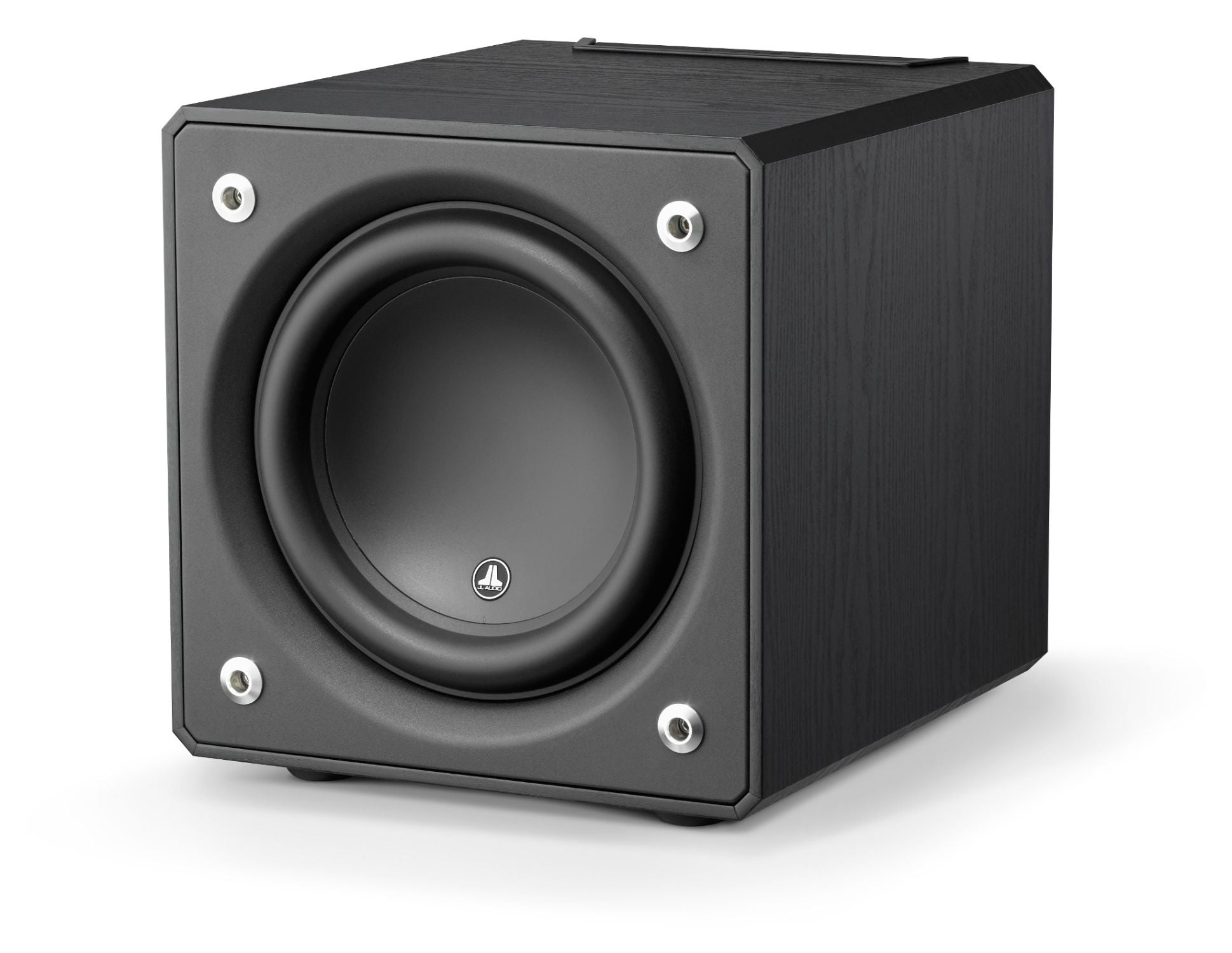 Front of e110-ASH Subwoofer Facing Left
