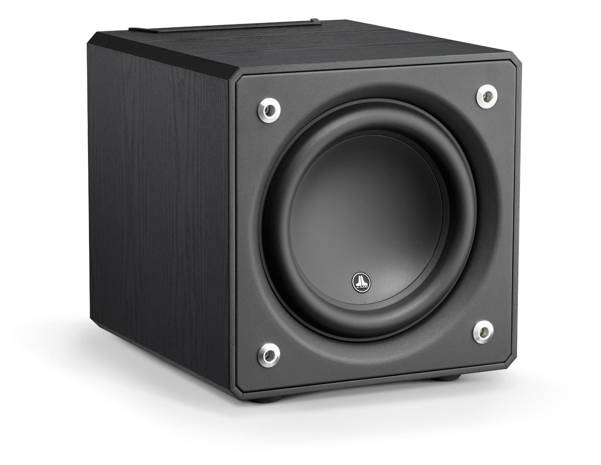 Front of e110-ASH Subwoofer Facing Right
