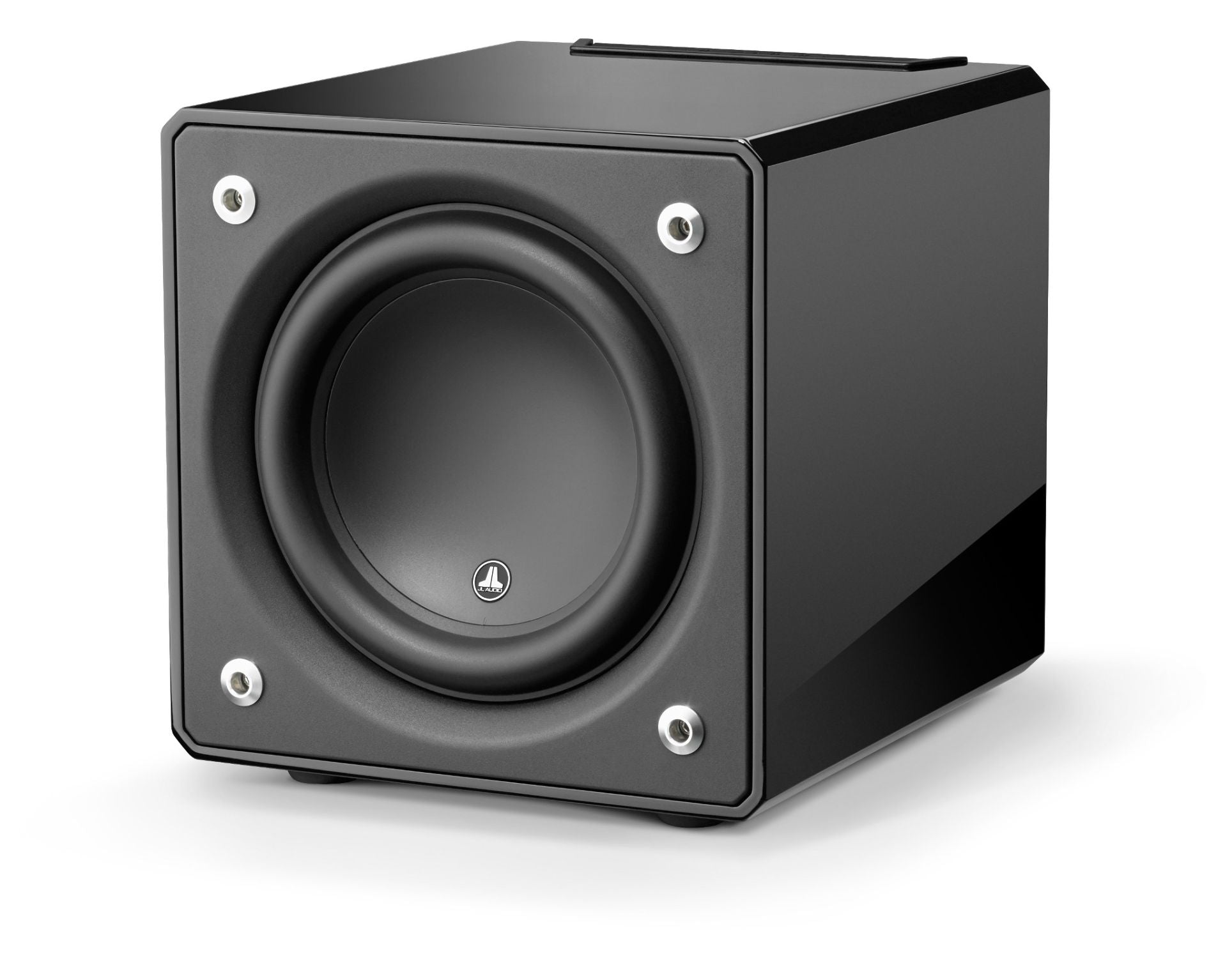 Front of e110-GLOSS Subwoofer Facing Left