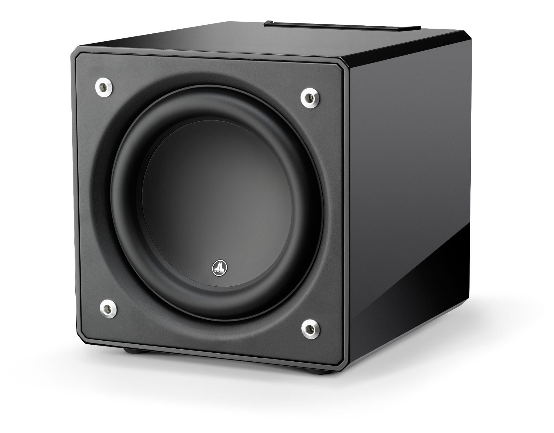 Front of e112-GLOSS Subwoofer Facing Left