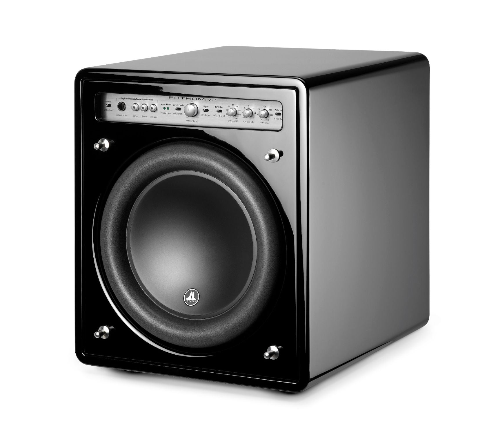 Front of f110v2 Subwoofer Facing Left